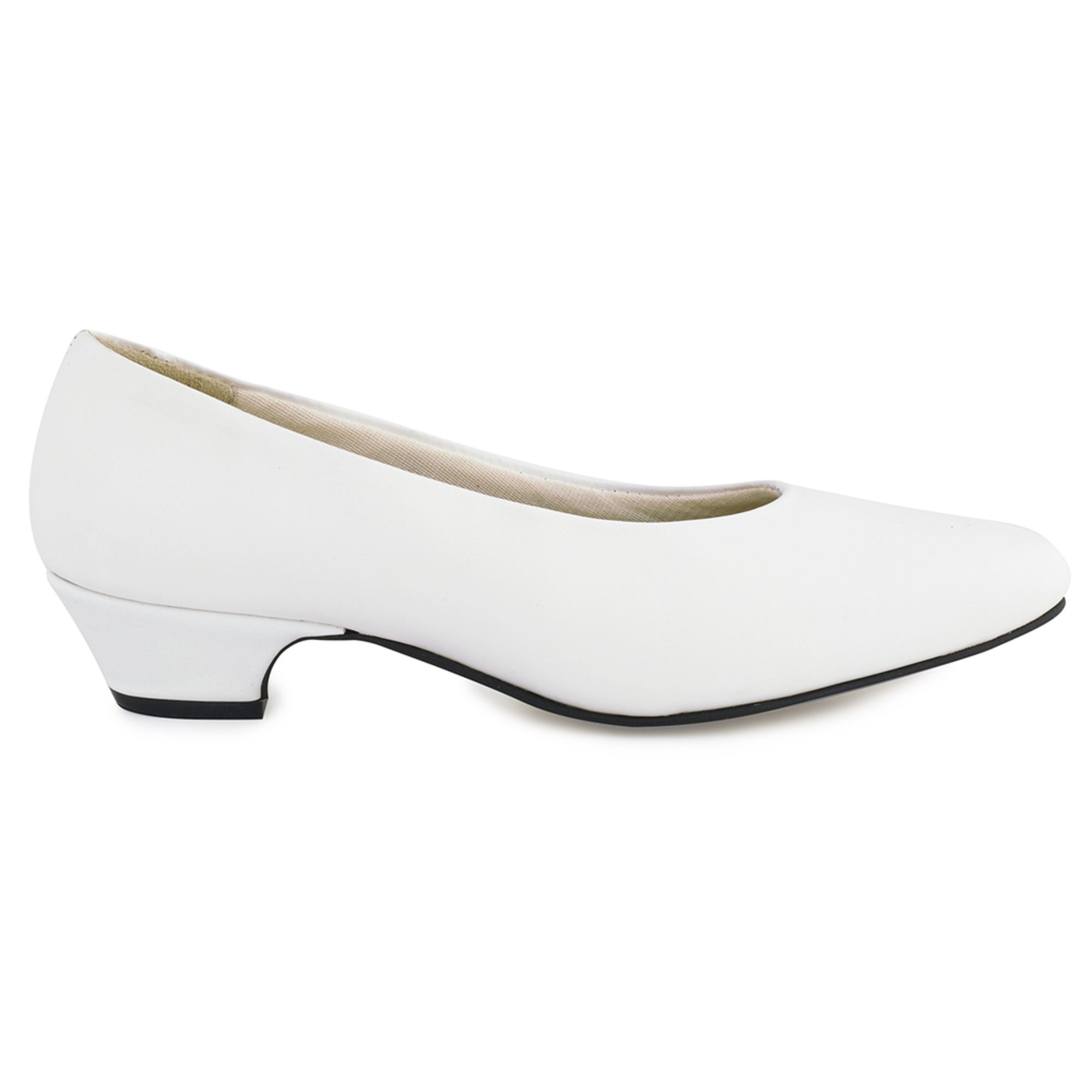 Capps White Leather 1 1/4\