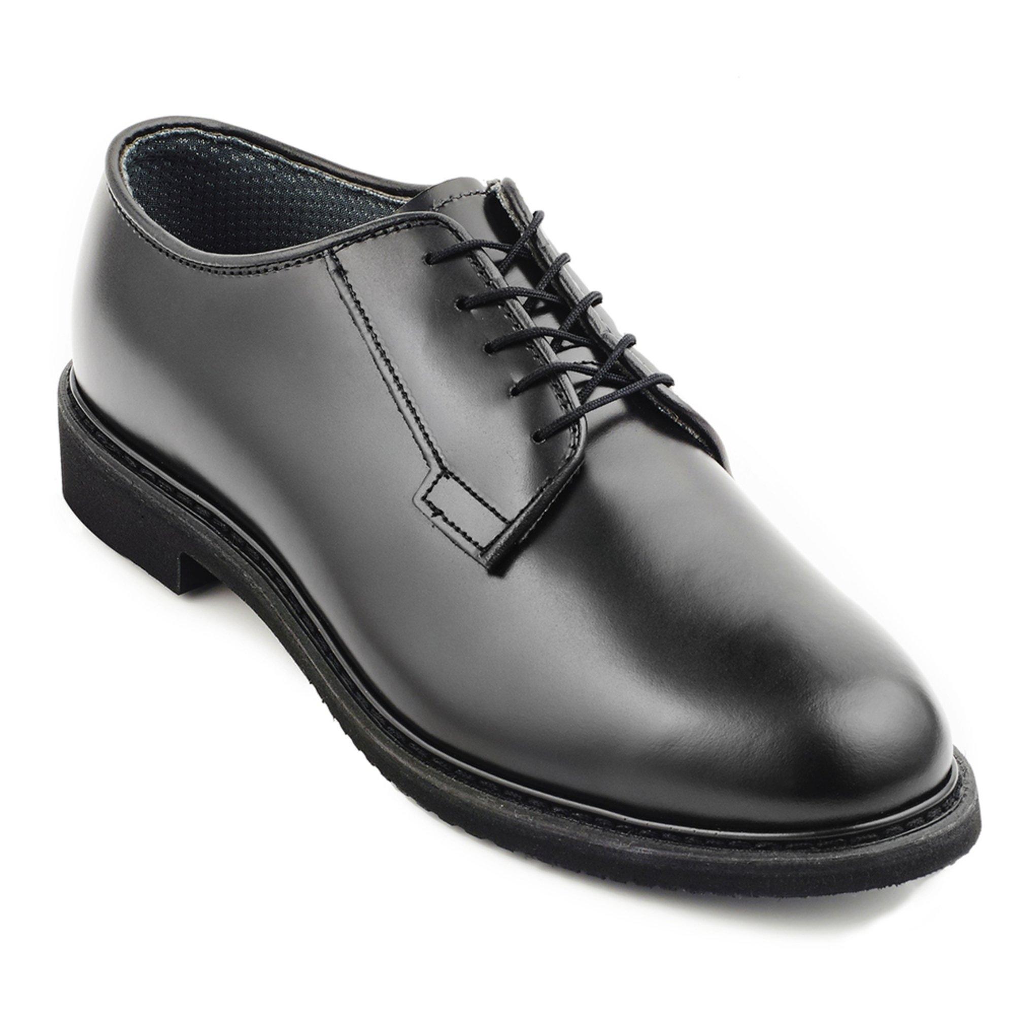 Black Leather Upper Dress Oxford