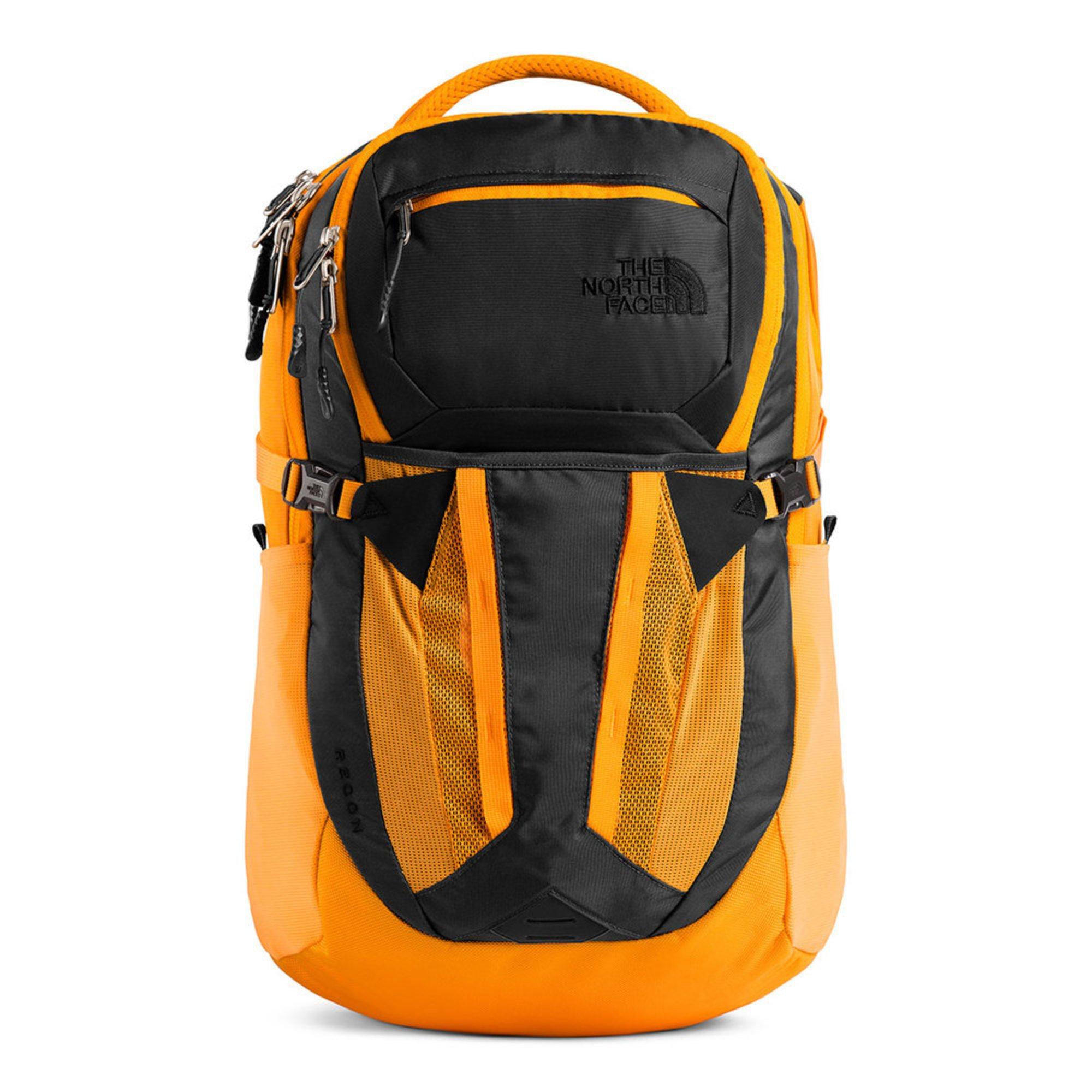 a2c11f7c5 North Face Recon Backpack Asphalt Grey Zinnia Orange