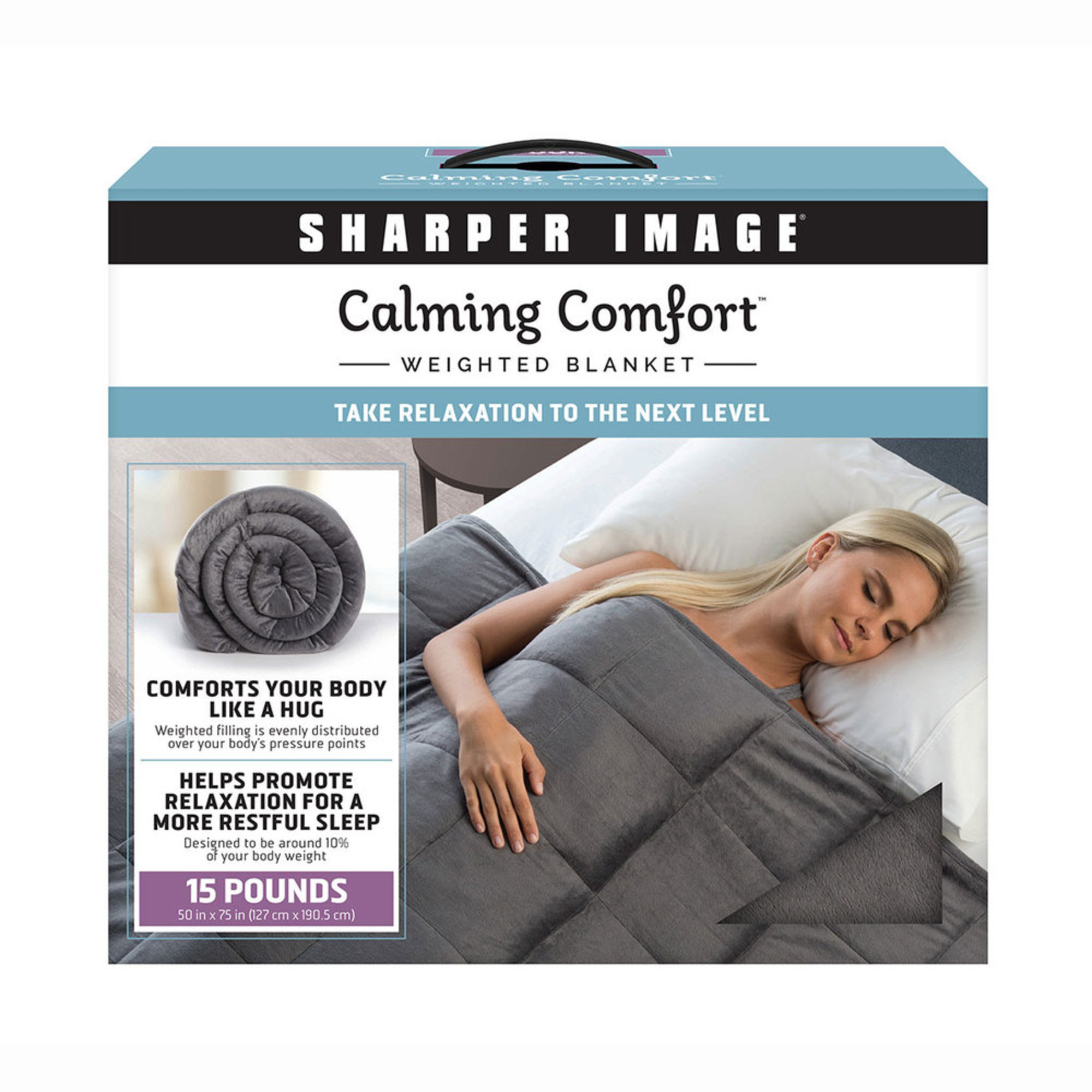 As Seen On Tv Sharper Image Calming Comfort 15 Lb Weighted Blanket