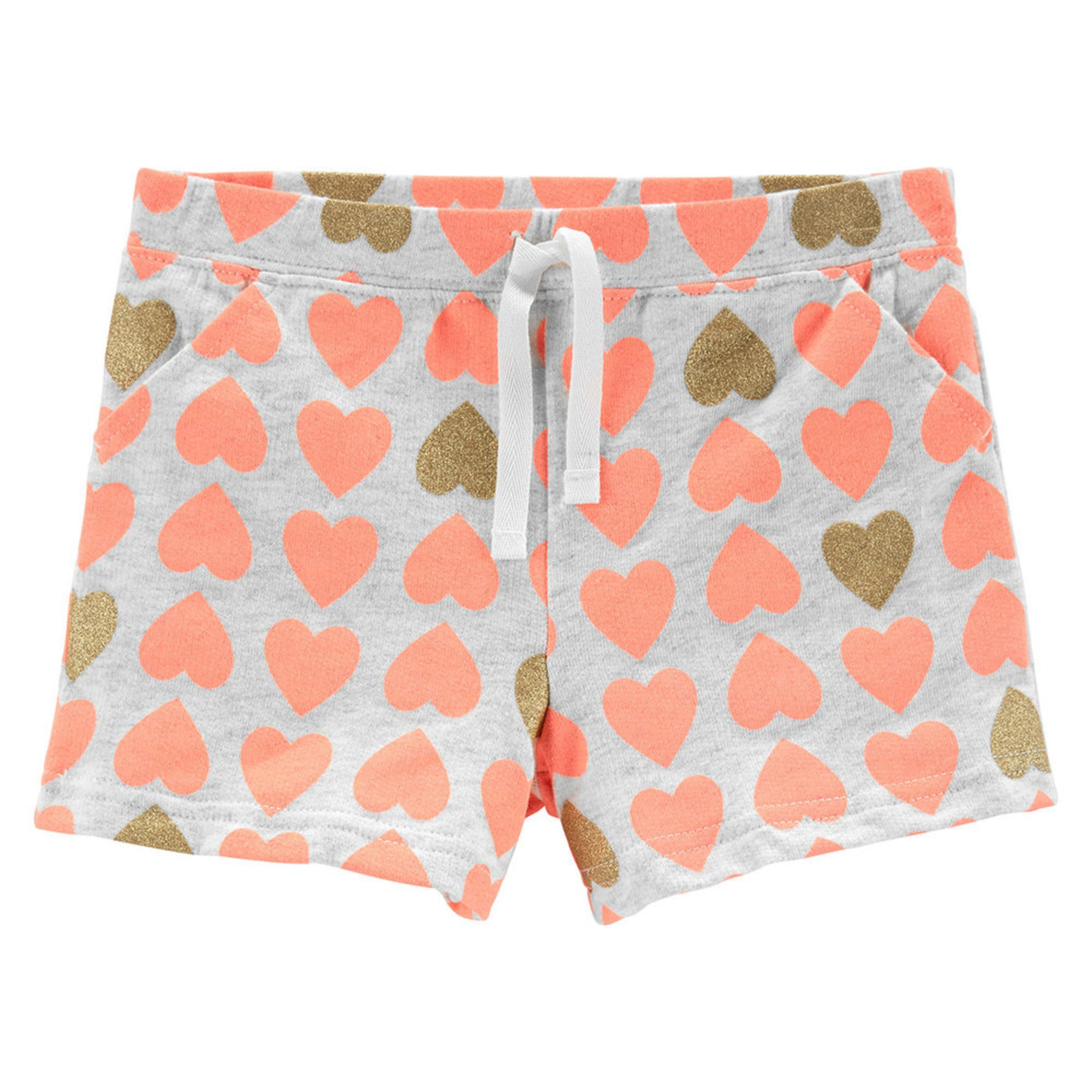 e7dbde06a8299 Carter's Toddler Girls' Heart Print Glitter Knit Shorts | Little ...
