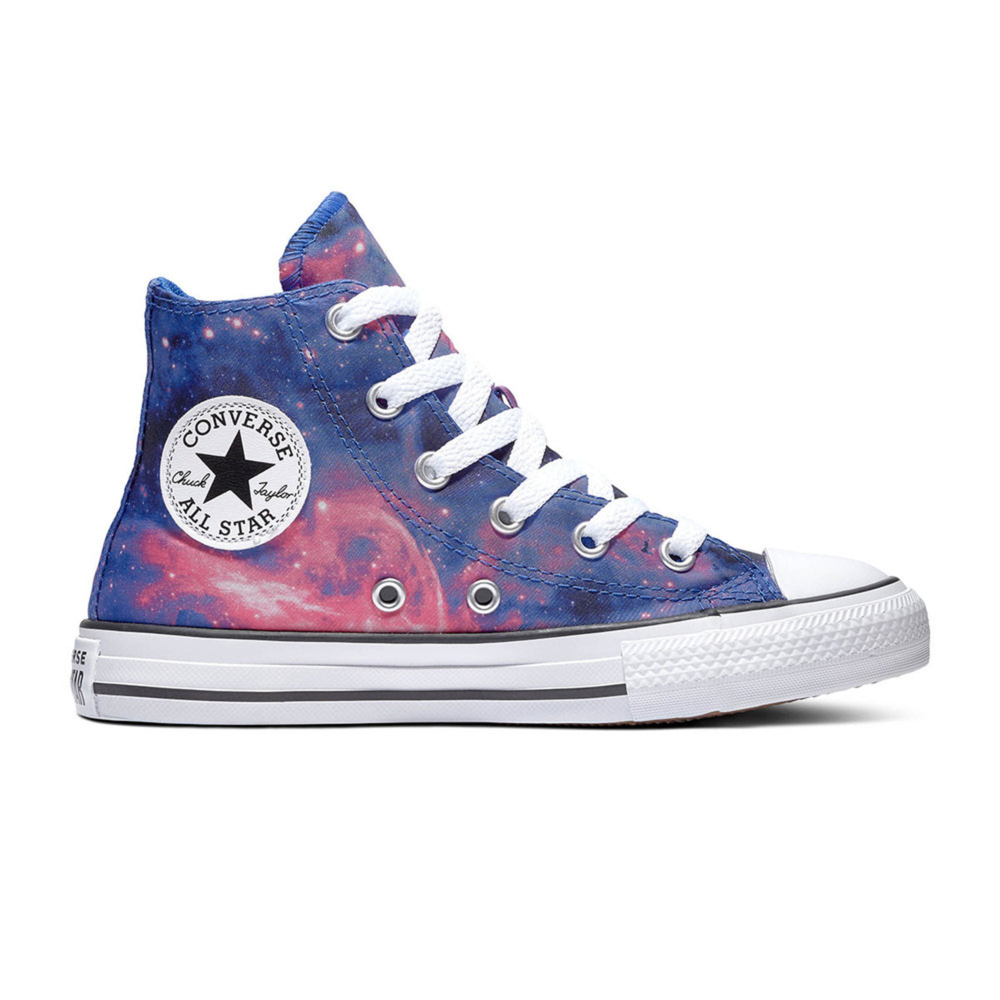 7757073bb6 Converse Girls Chuck Taylor All Star Miss Galaxy Print Hi Top ...