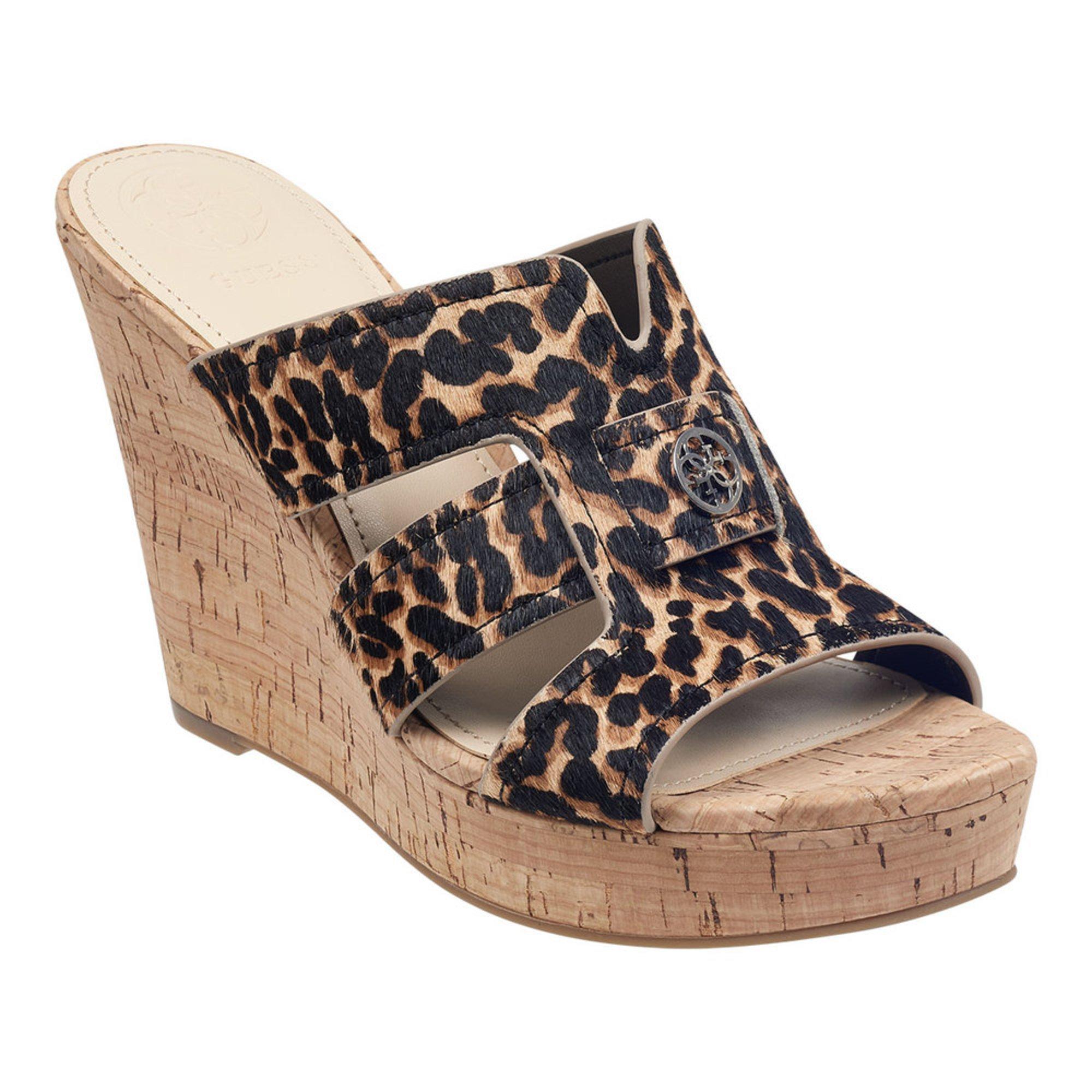 07178e18ed3 Guess Women s Eadran Wedge Cork Sandal