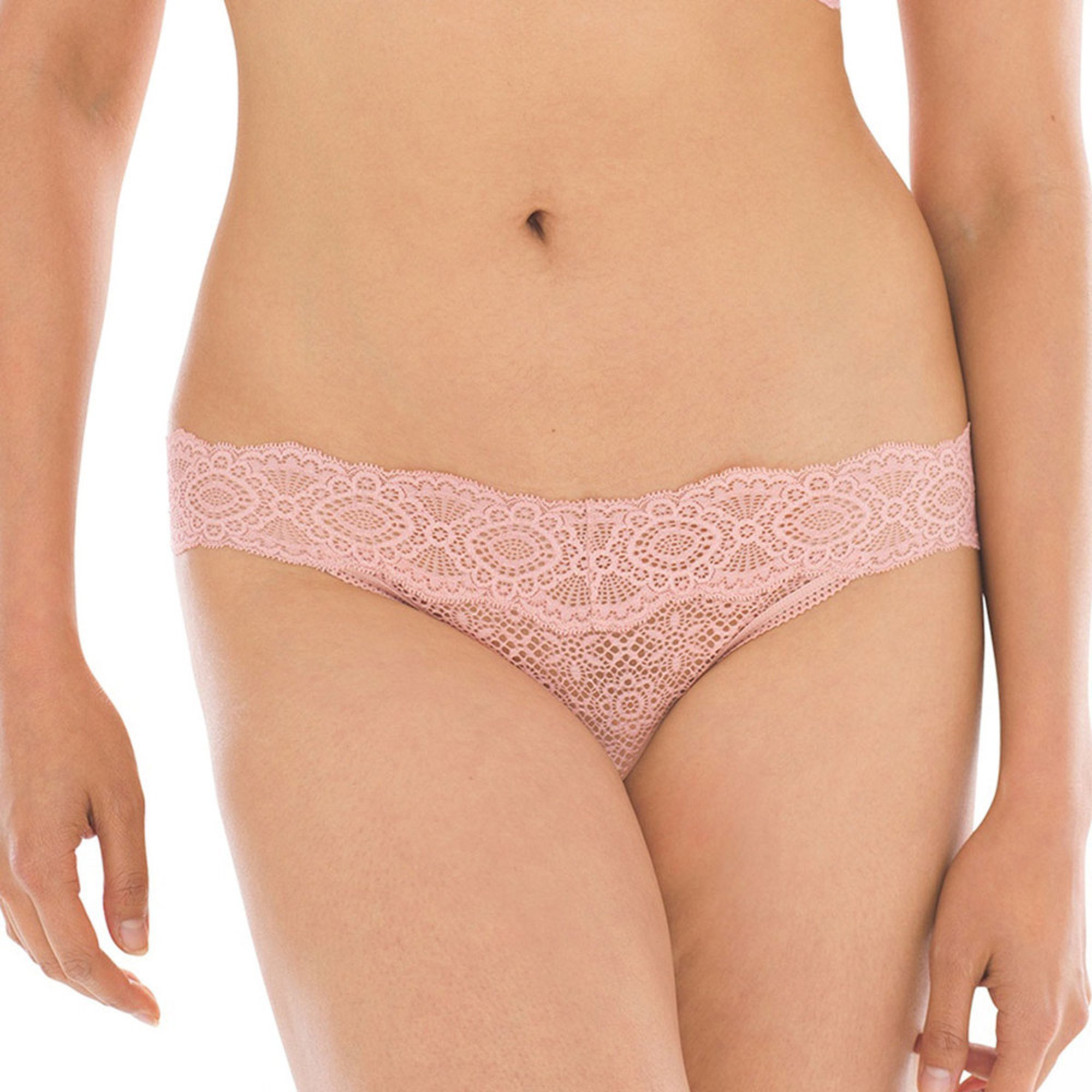 5b2e83f3a135 Soma Women's Embraceable All-over Lace Geo Thong   Thong Panties ...