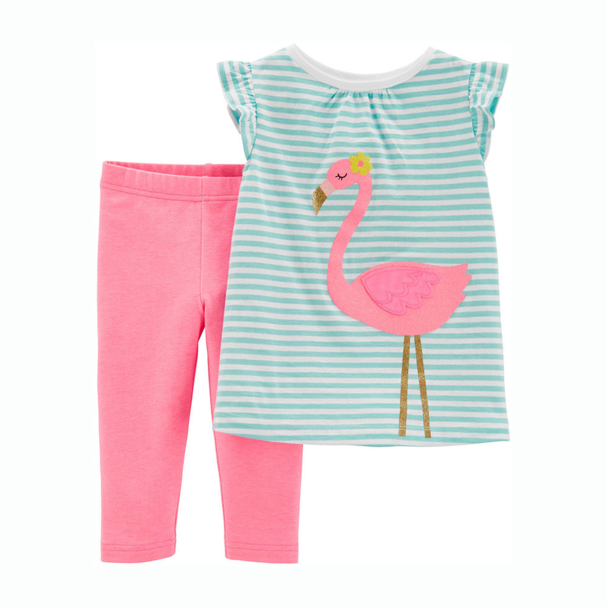 b543826f8ca51 Carter's Toddler Girls' 2-piece Flamingo Knit Legging Set | Little ...
