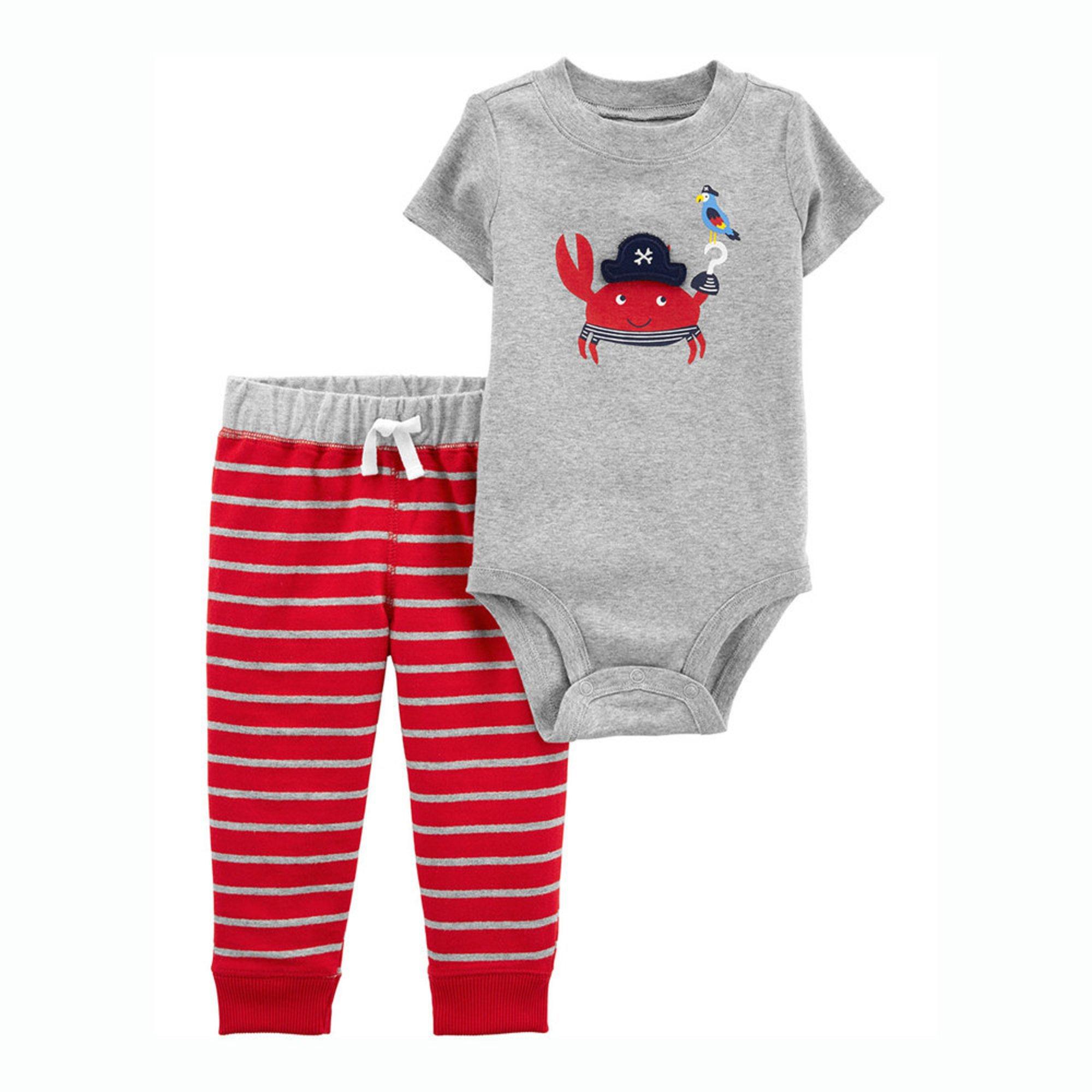55279f087 Carter's Baby Boys' Crab Bodysuit Striped Pant Set | Baby Boys' Sets ...