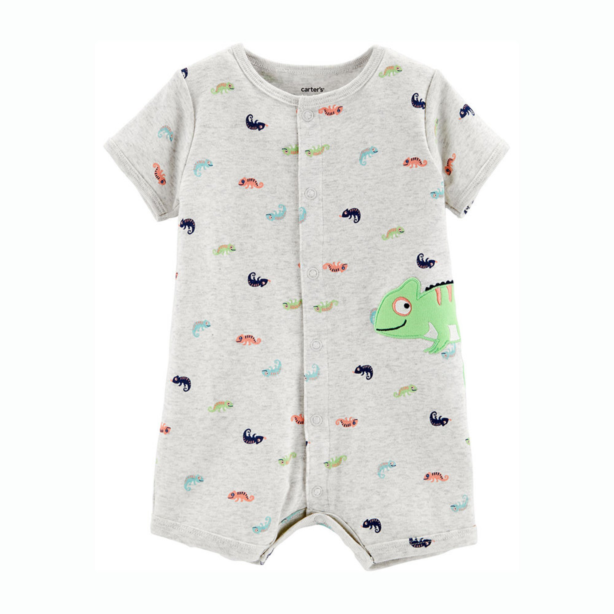 3c8a816ab19ed Carter's Baby Boys' Chameleon Snap Up Romper | Baby Boys' One Piece ...