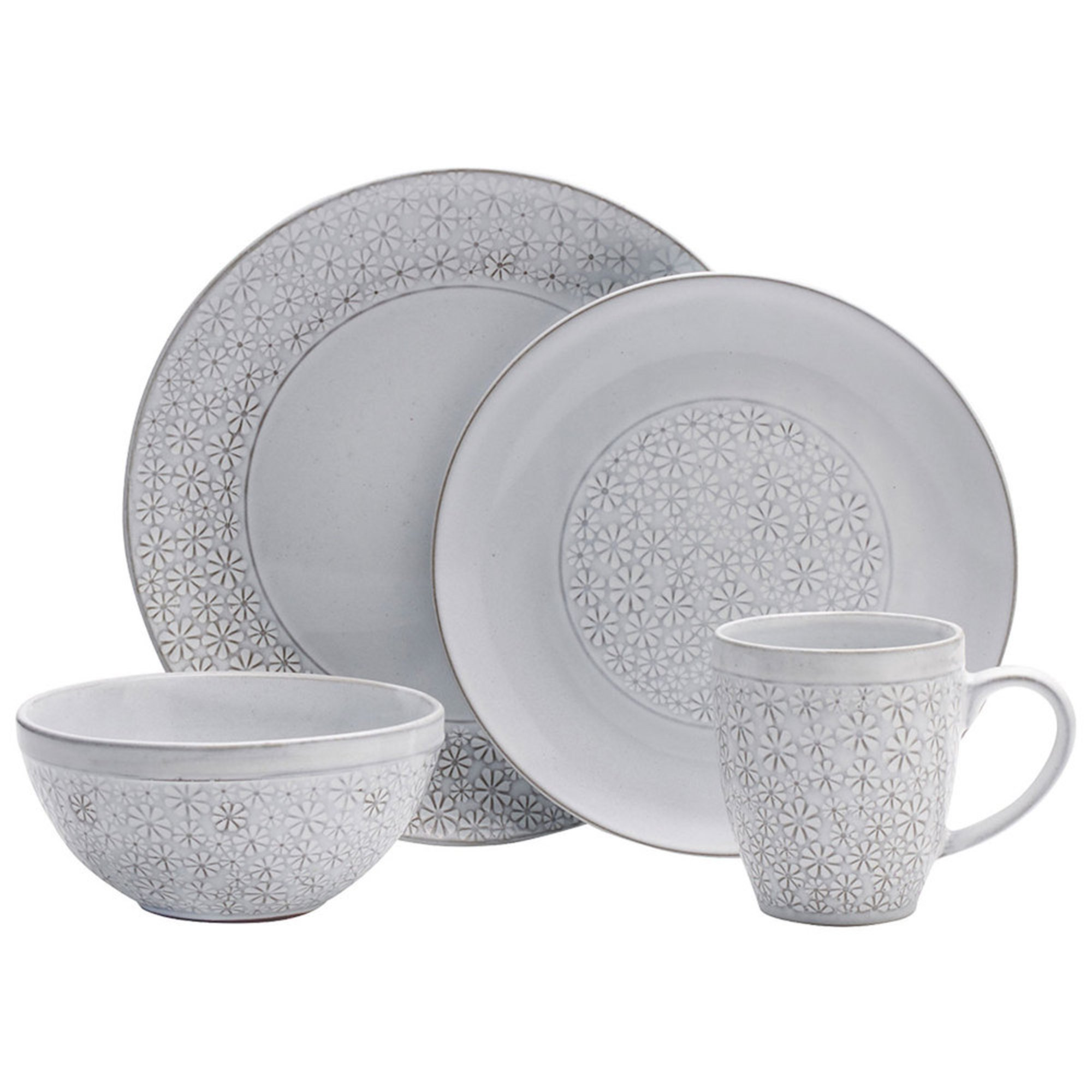 Pfaltzgraff 16 Piece Blossom White Dinnerware Set Dinnerware Sets