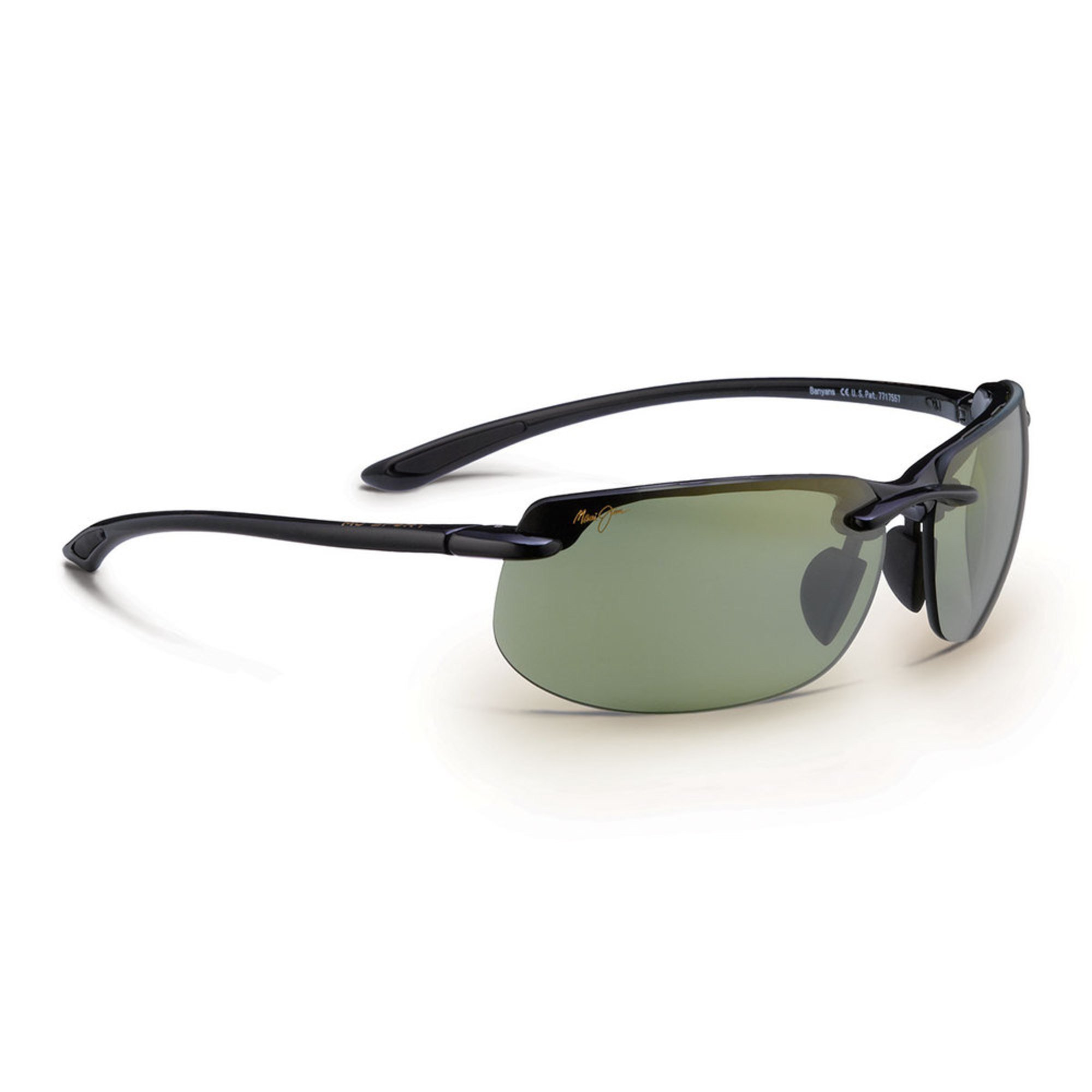 209770ea39d8 Maui Jim Men's Banyans Gloss Black Rimless Sunglasses | Unisex ...
