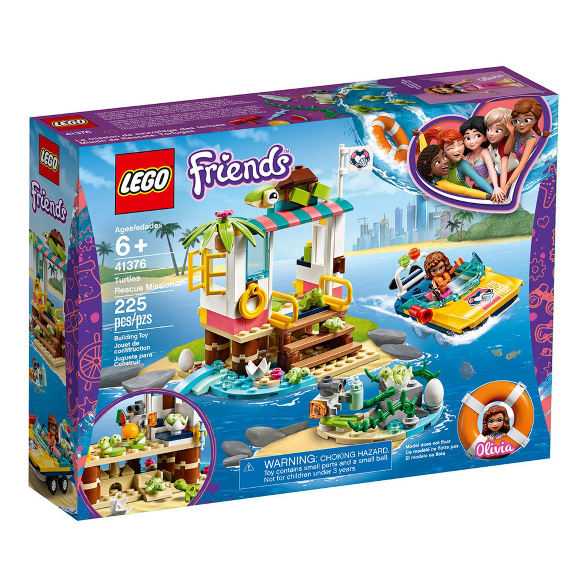 Lego Friends Turtles Rescue Mission (41376) | Building ...