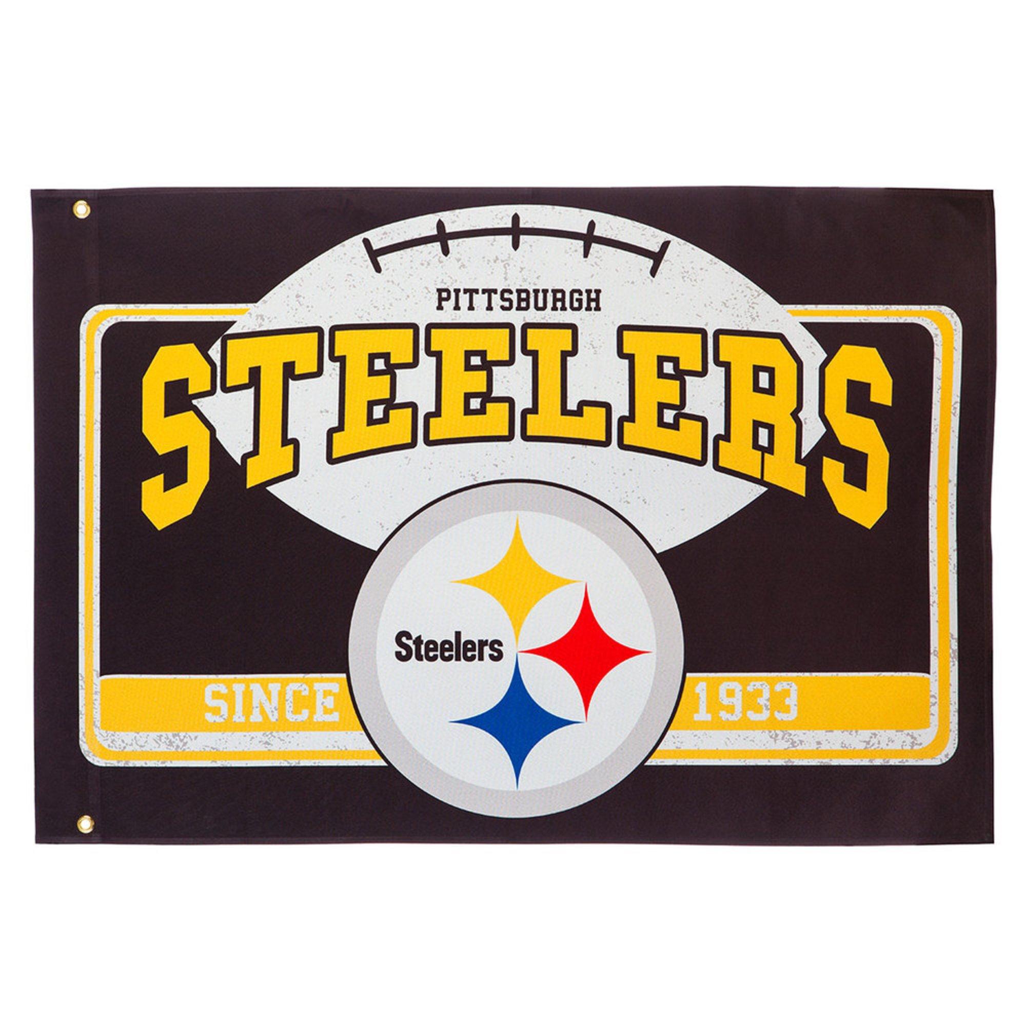 huge discount c14f2 ec675 Evergreen Pittsburg Steelers Linen Estate Flag | Estate ...
