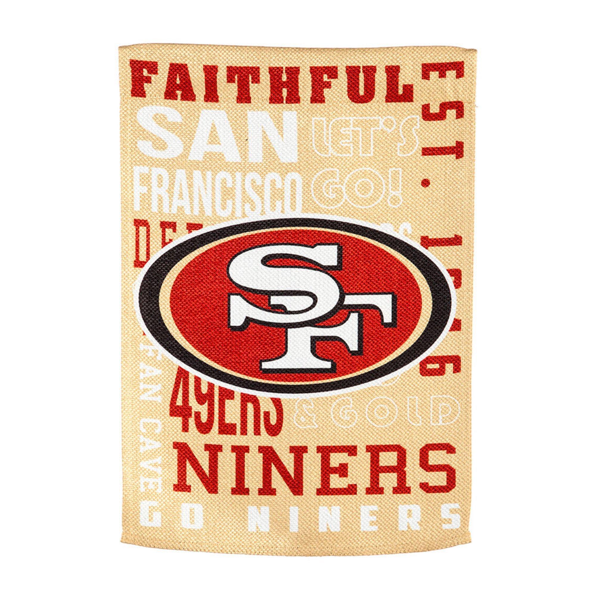 super popular e1f66 313ab Evergreen San Francisco 49ers Fan Rules Garden Flag | Garden ...