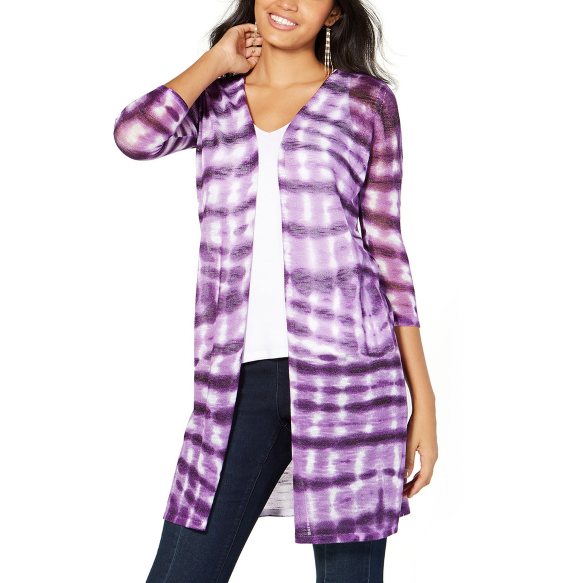 6f5b3298682 I.n.c. International Concepts Women's Tie Dye Cardigan | Sweaters ...