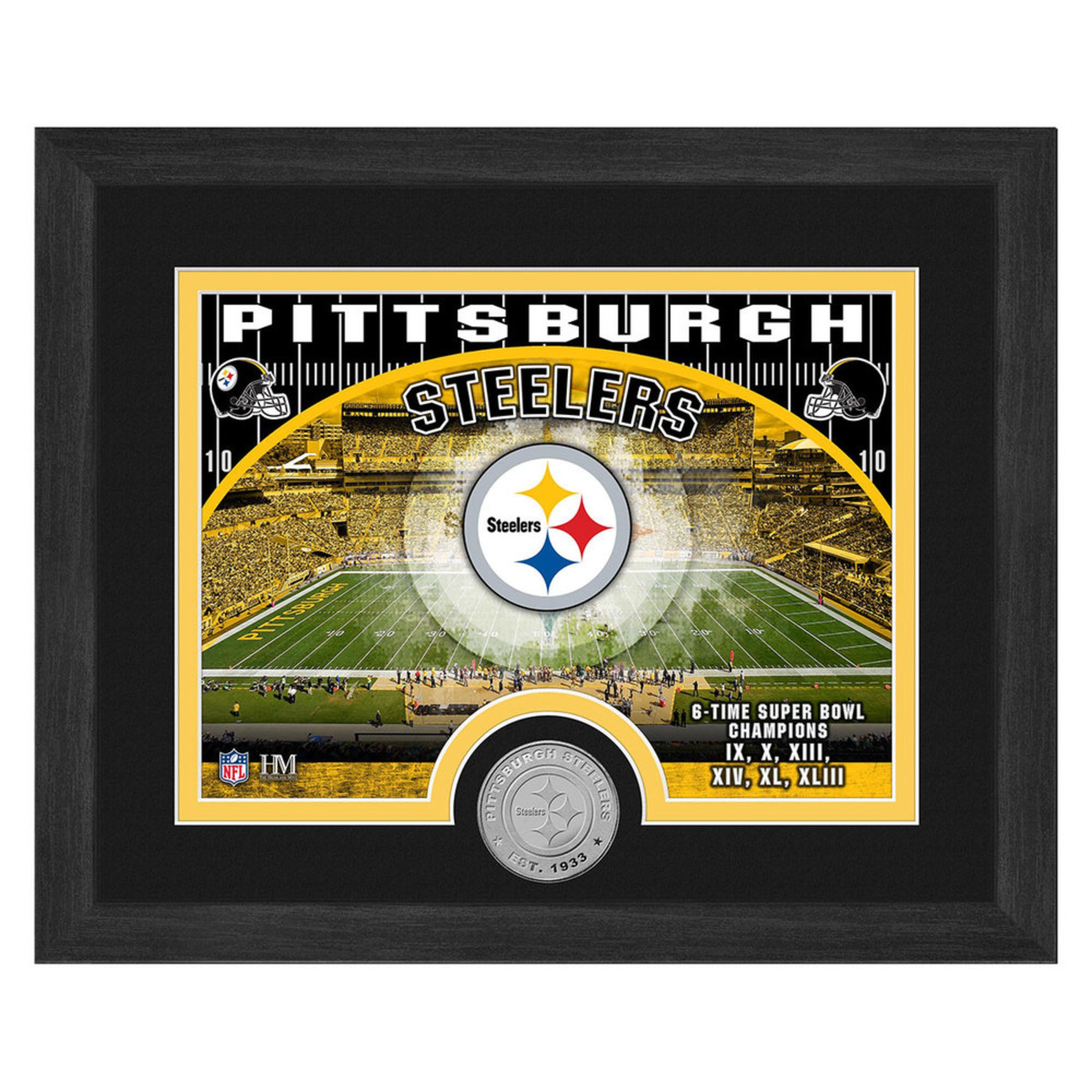 watch 6d7ce 4cd15 The Highland Mint Pittsburg Steelers 9x11 Single Coin Team ...