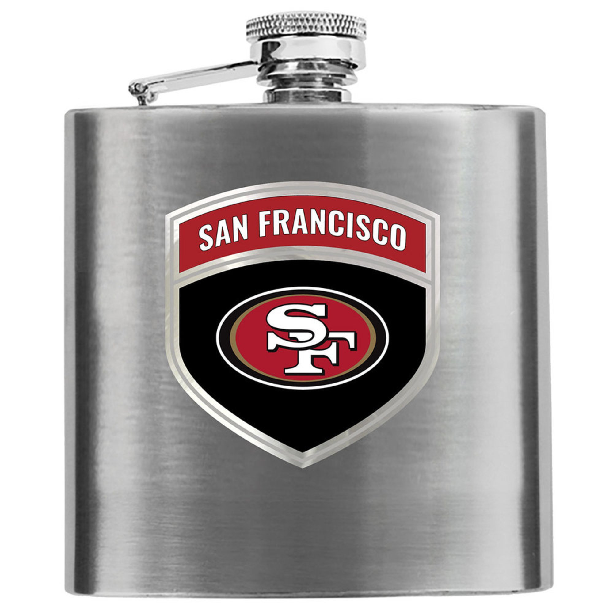 free shipping 87c94 f864c Great American Products San Francisco 49ers 6 Oz Hip Flask ...