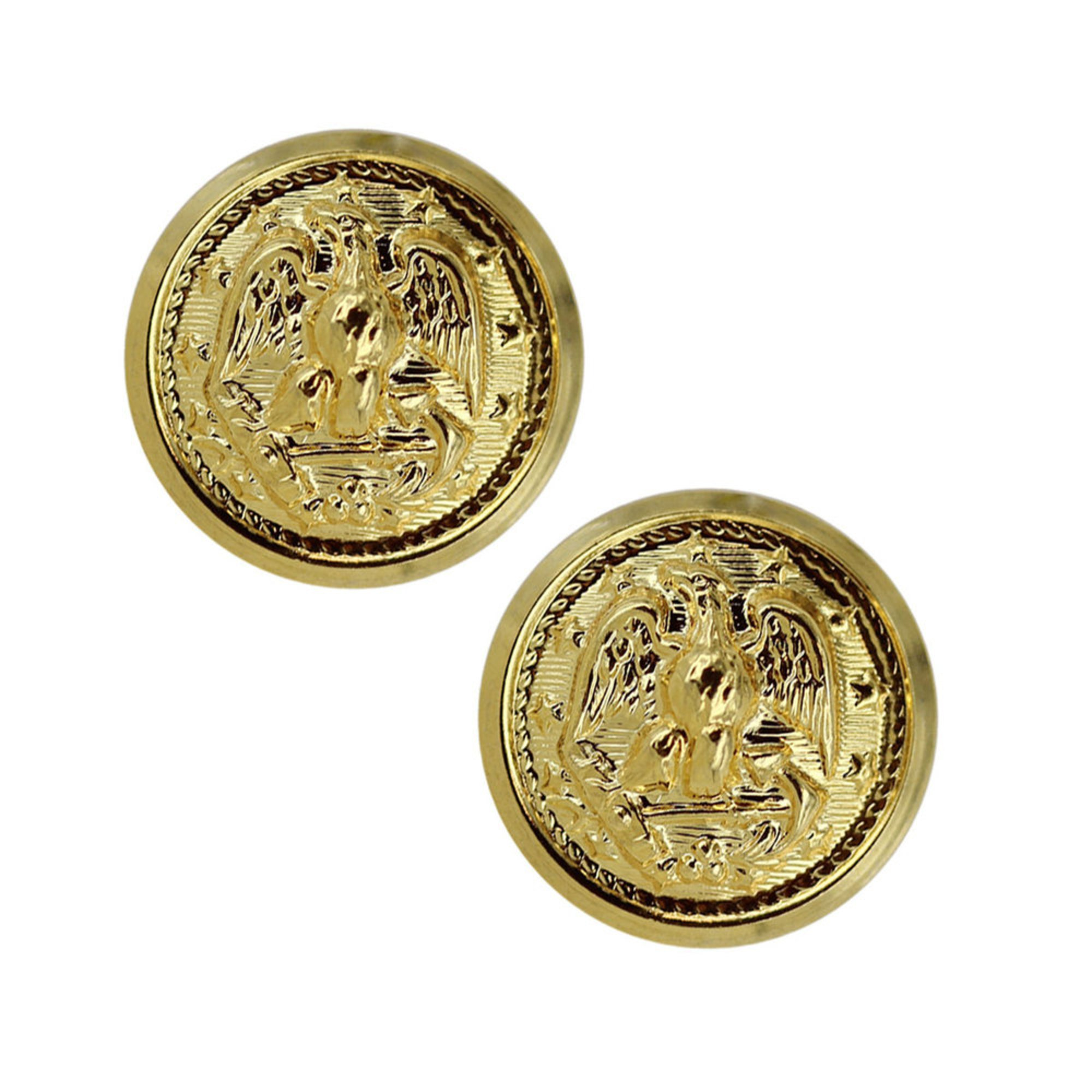 Button Dress Cap Gold Screw On With Tube Pair | Buttons