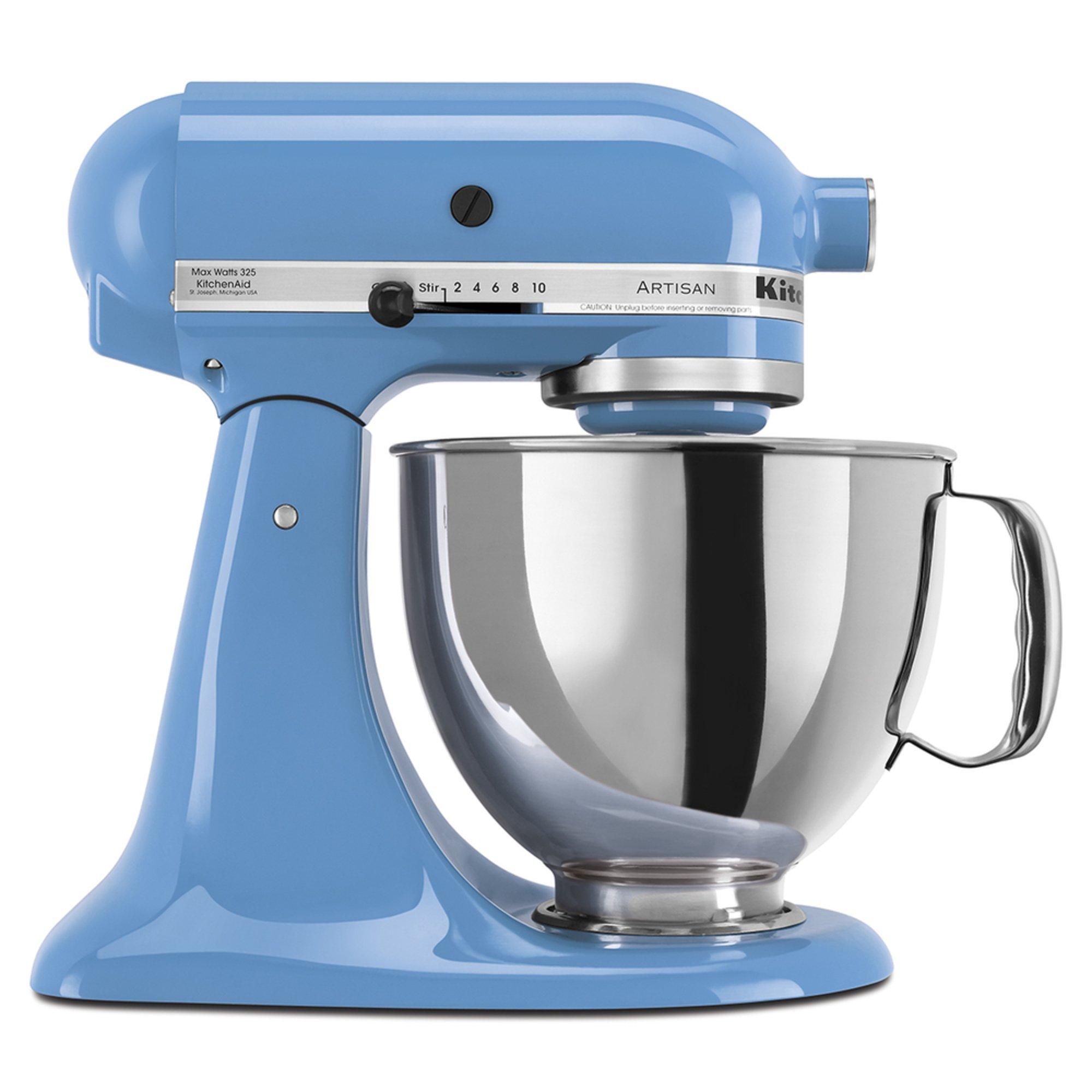 Kitchenaid artisan series 5 quart tilt head stand mixer cornflower blue ksm150psco stand - Kitchenaid artisan qt stand mixer sale ...