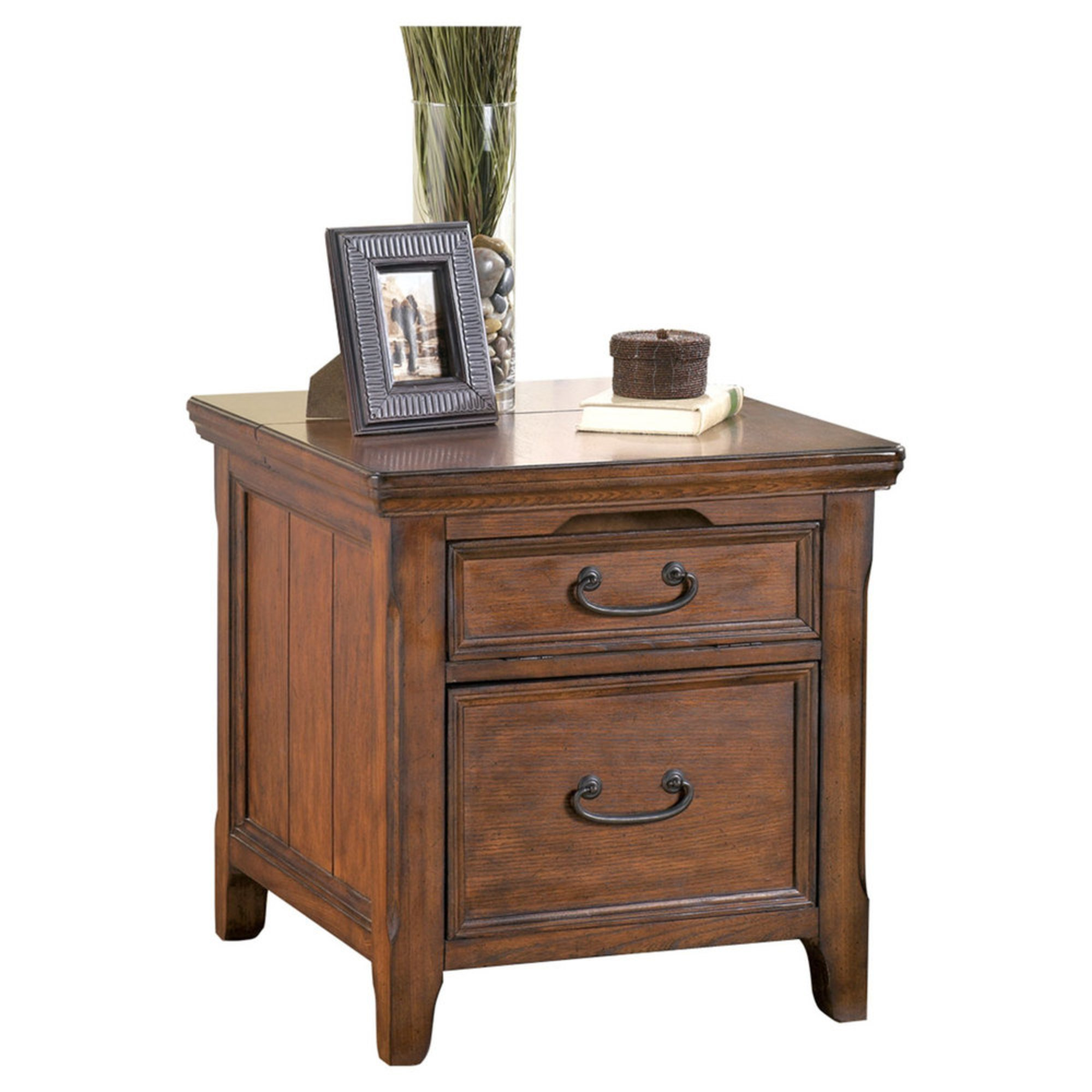 Signature Design By Ashley Woodboro Media End Table With Power