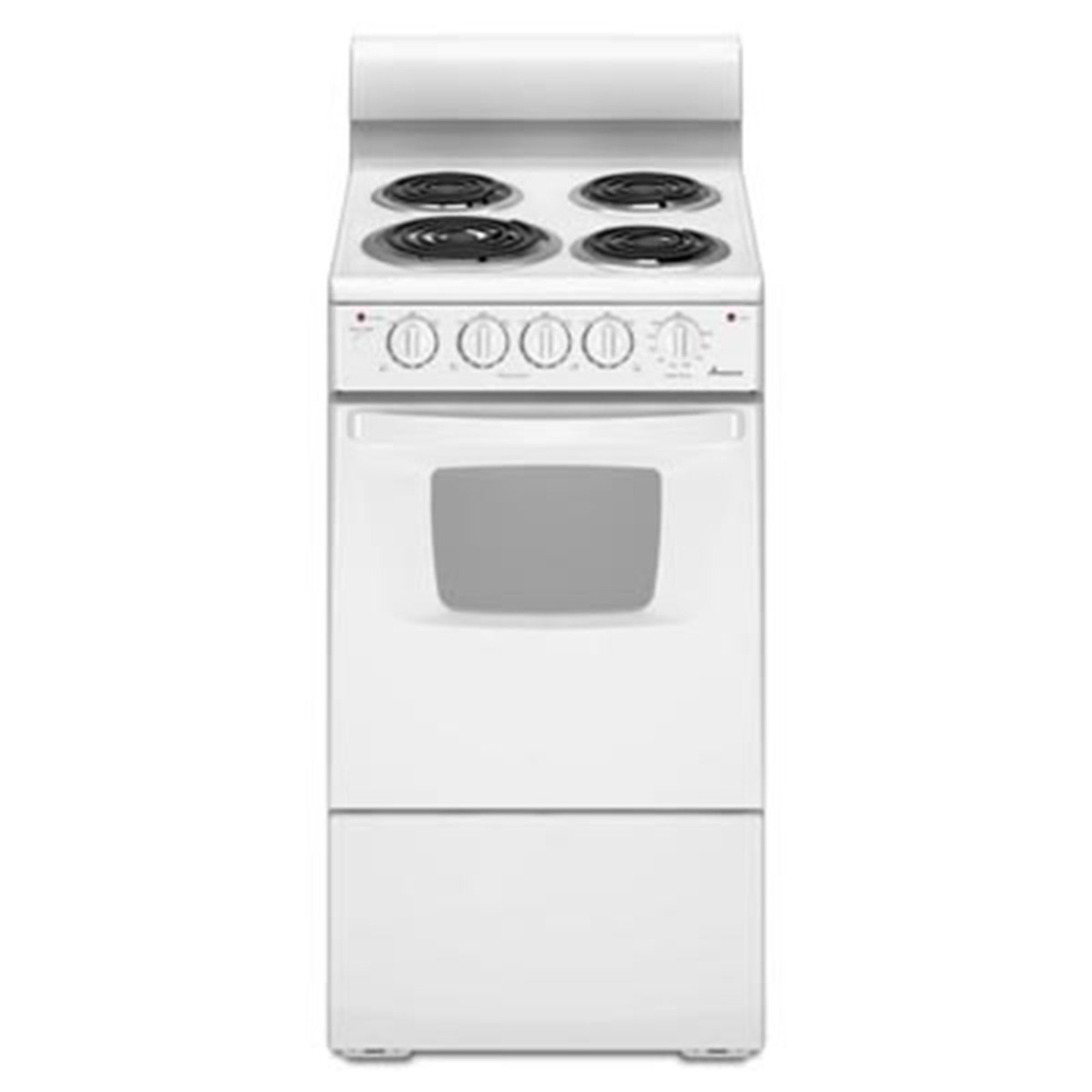 "Amana 20"" Electric Range Oven W/ Versatile Cooktop, White"