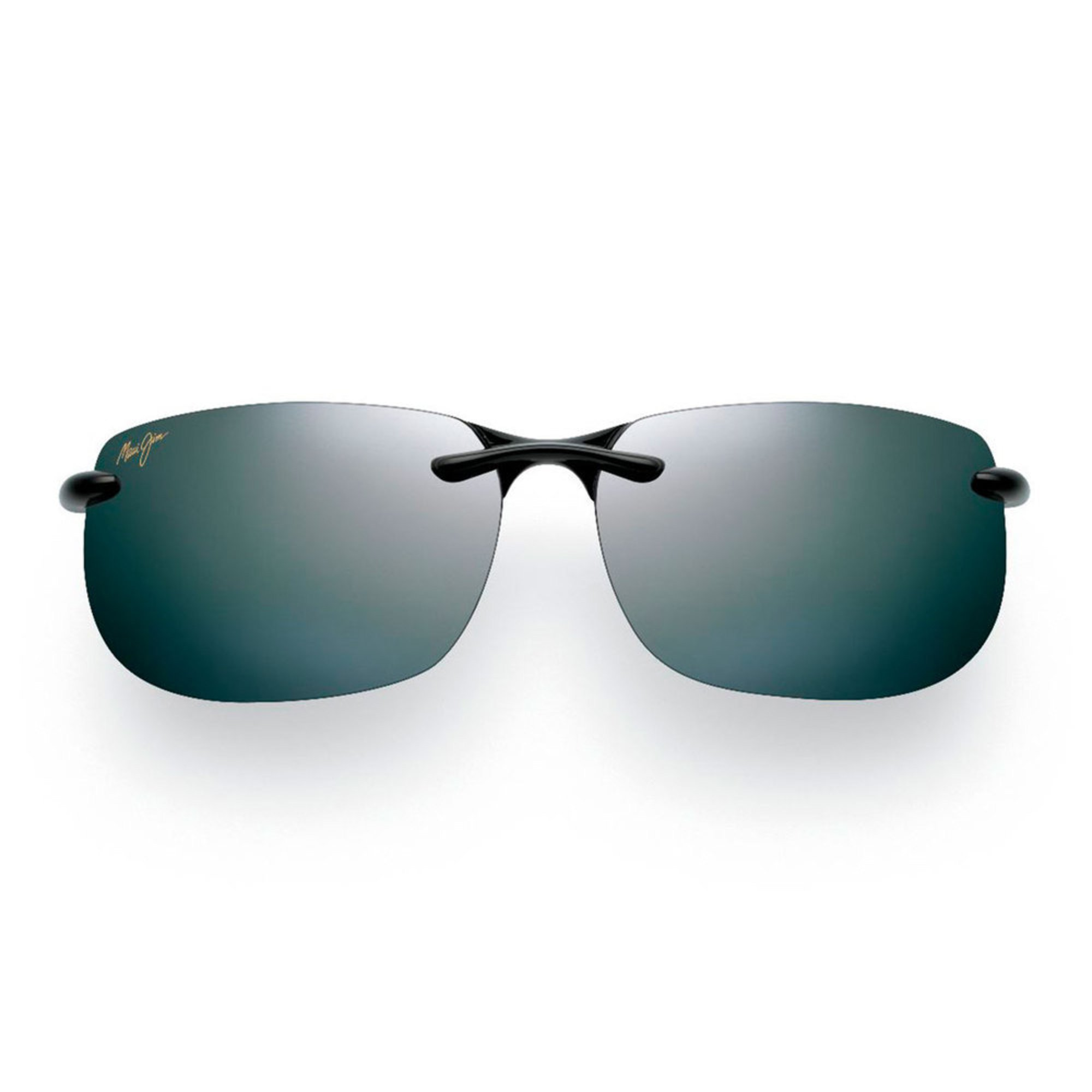 a6a26cbdb2fe Maui Jim Men's Banyans Gloss Black Rimless Sunglasses | Men's ...