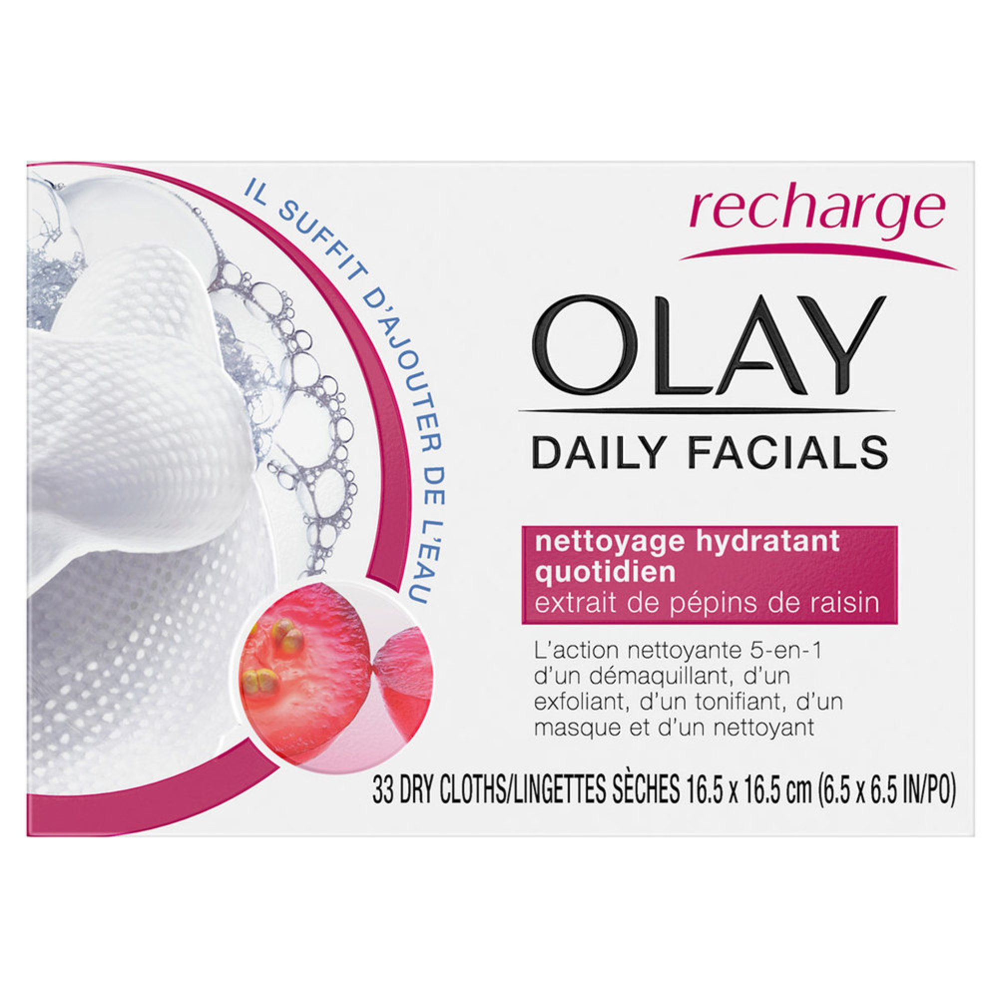 Olay Basic 2-in-1 Facial Cloths Normal 33ct | Skincare ...