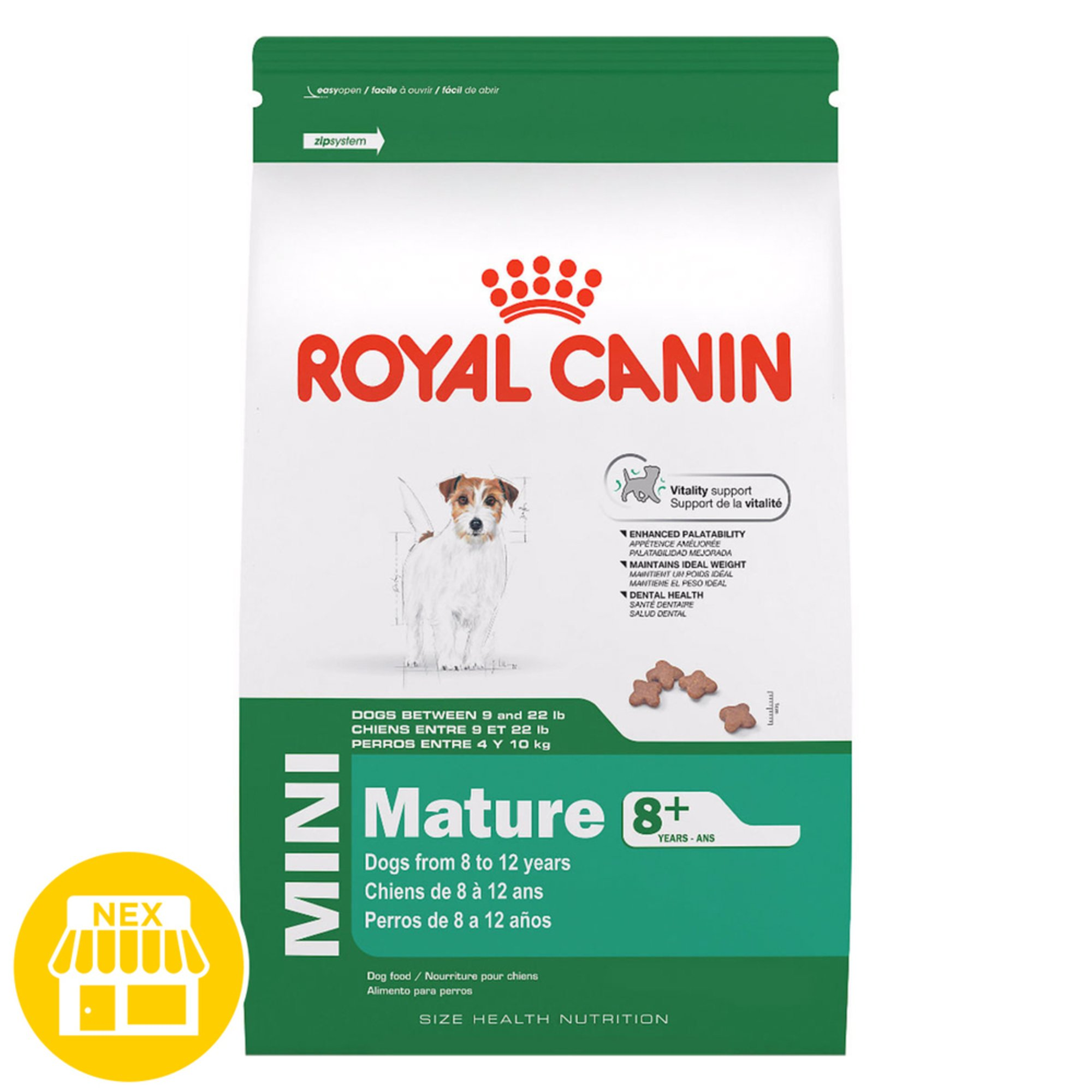 Royal Canin Mini Mature 8 Dry Dog Food 2 5 Lbs Dog