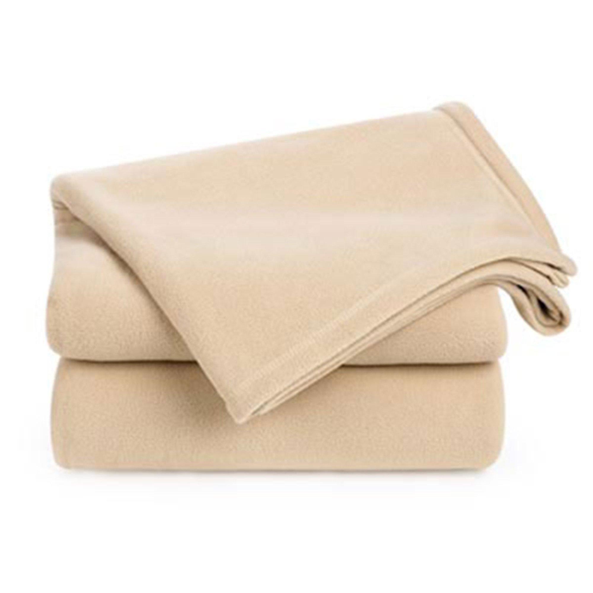 Berkshire Fleece Blanket Linen Twin Basic Blankets