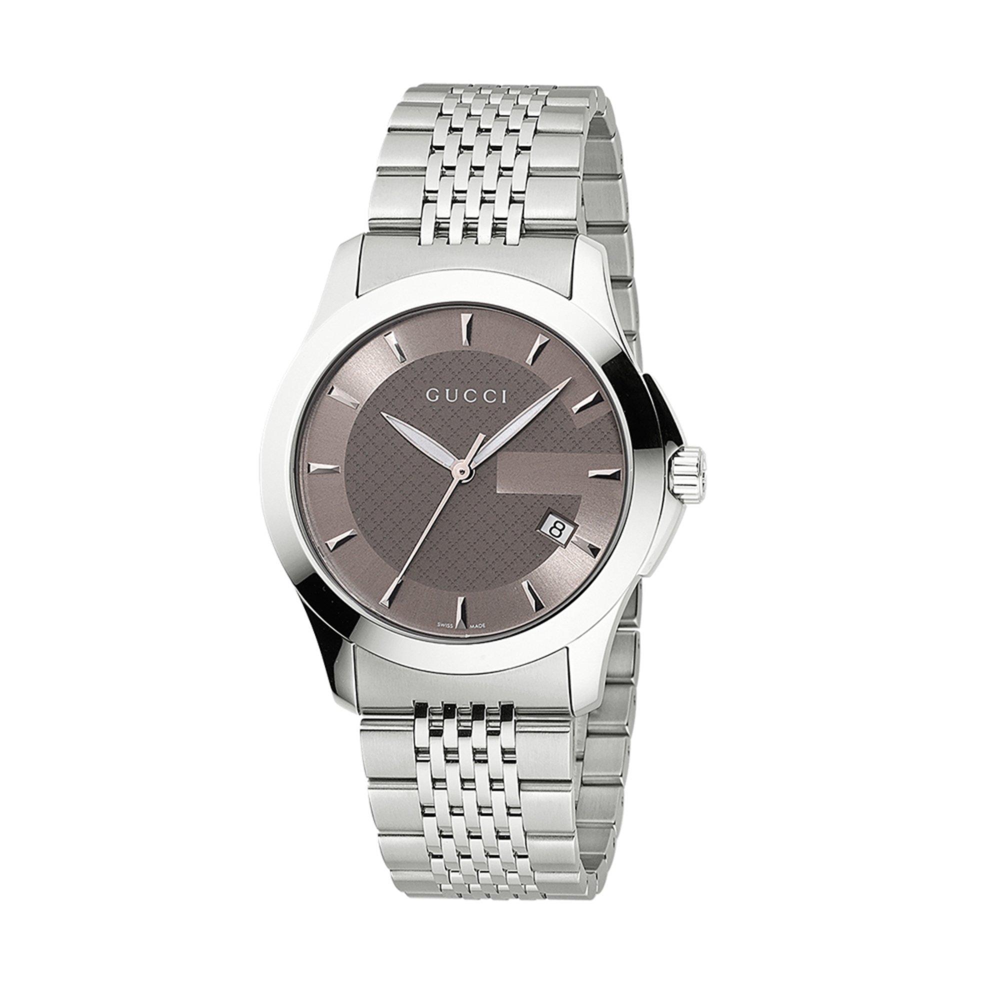 55503322444 Gucci Men s G-timeless Medium Stainless-steel Watch