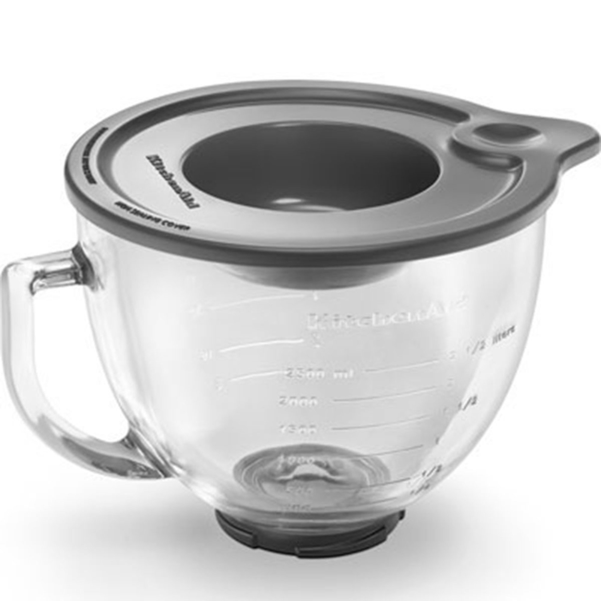 Kitchenaid 5 quart glass mixing measuring bowl for tilt head stand mixer k5gb attachments - Kitchenaid glass bowl attachment ...