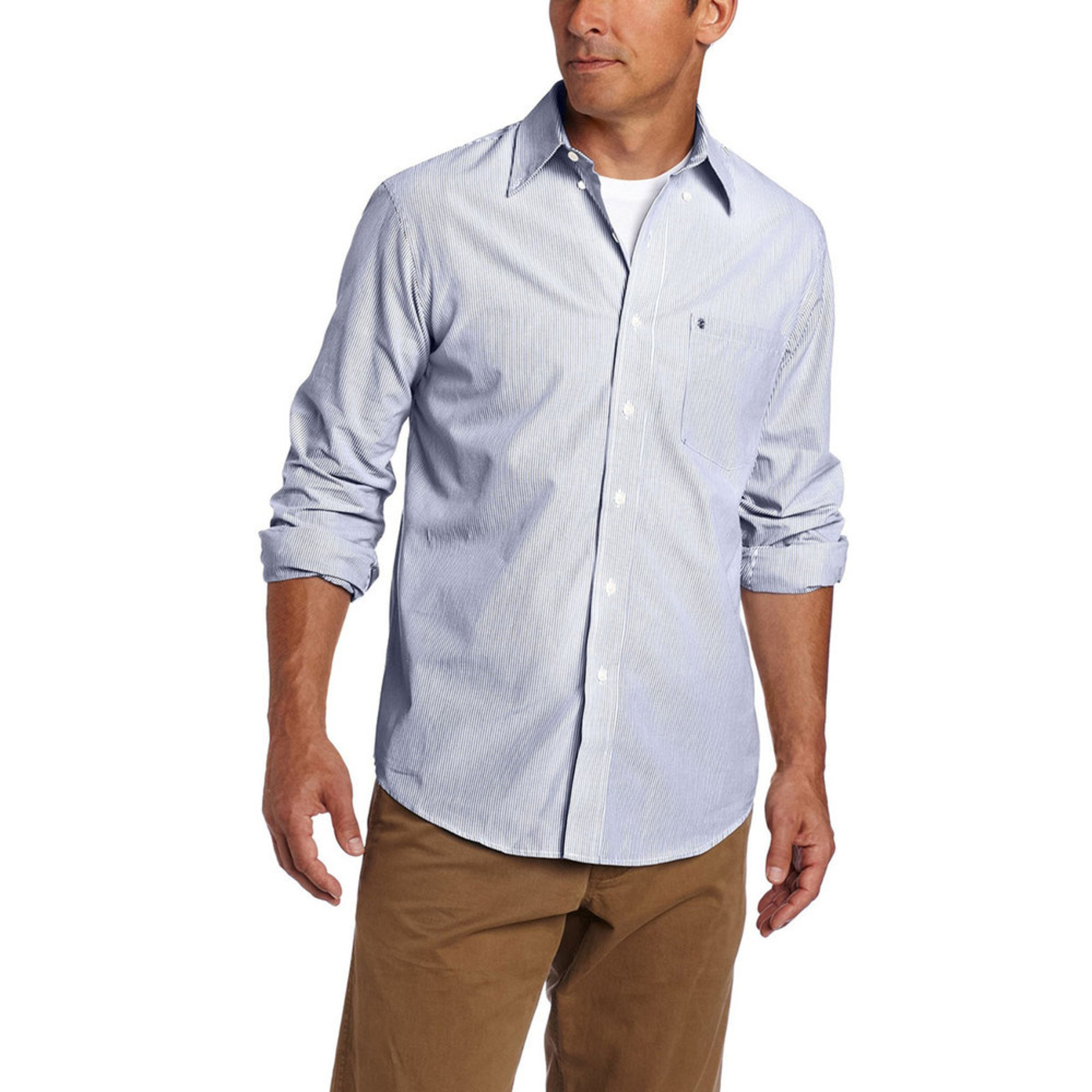 Izod men 39 s striped essential woven button down sport shirt for Izod button down shirts