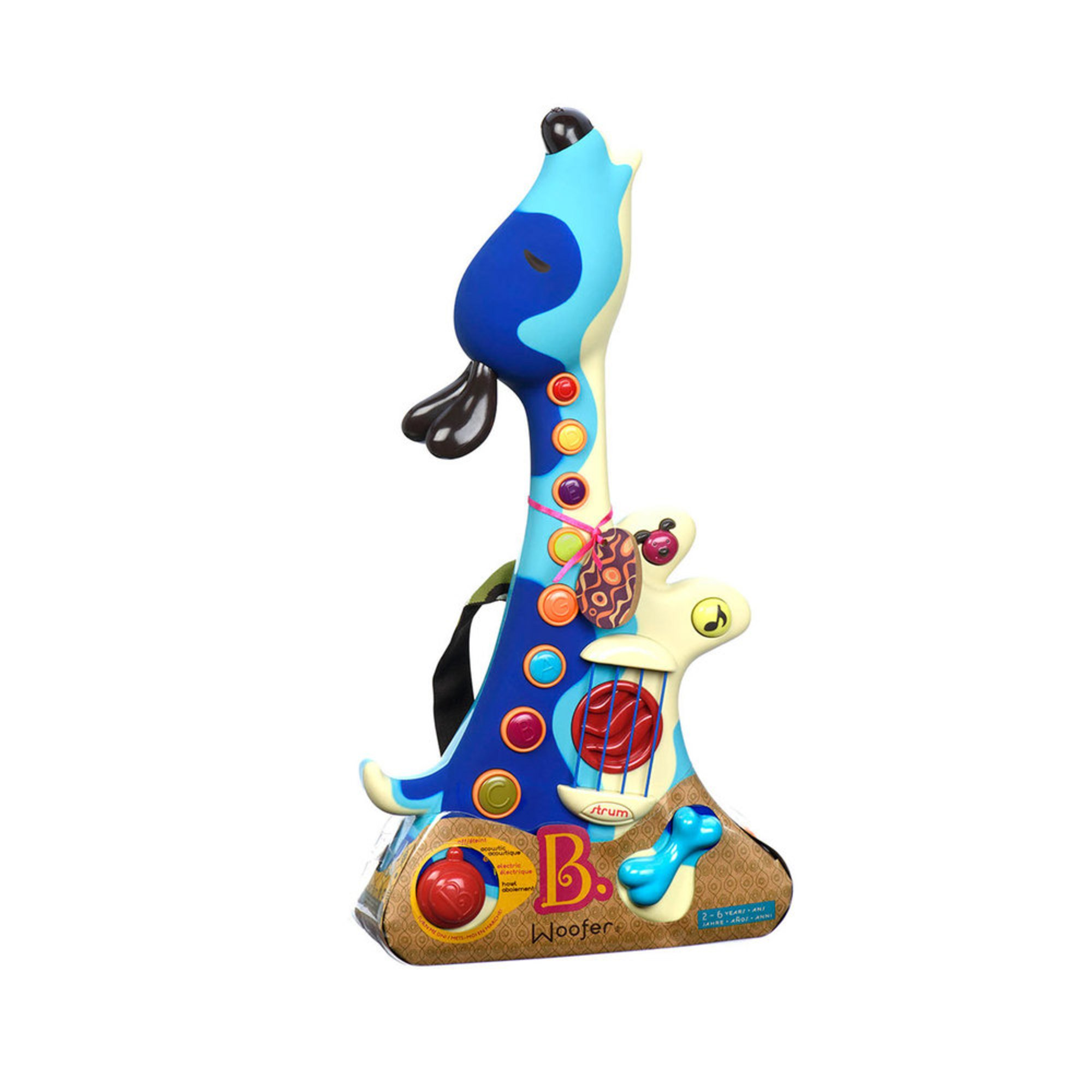 B Toys Woofer Hound Dog Guitar Musical Toys Baby Kids Toys