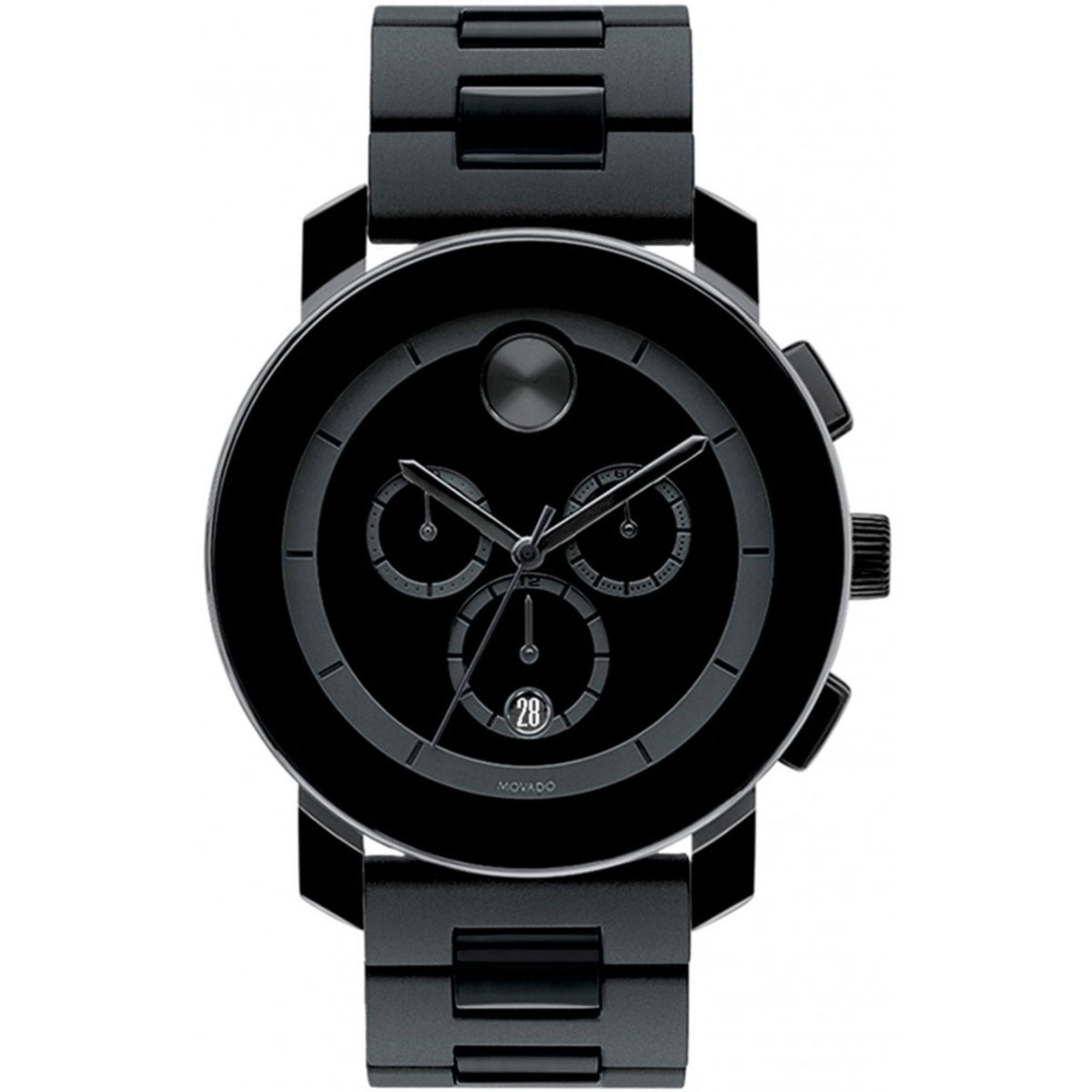 movado bold s chronograph stainless steel 43mm