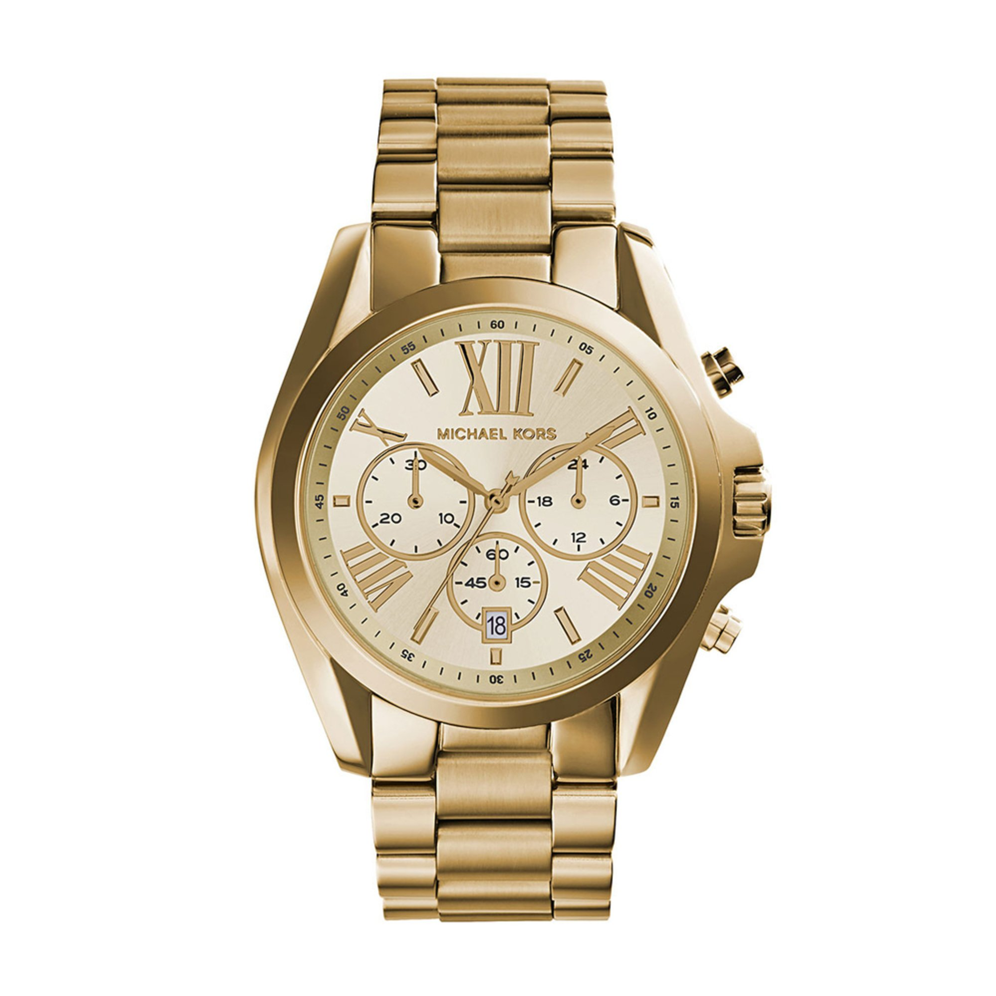 michael kors unisex bradshaw gold tone chronograph watch. Black Bedroom Furniture Sets. Home Design Ideas