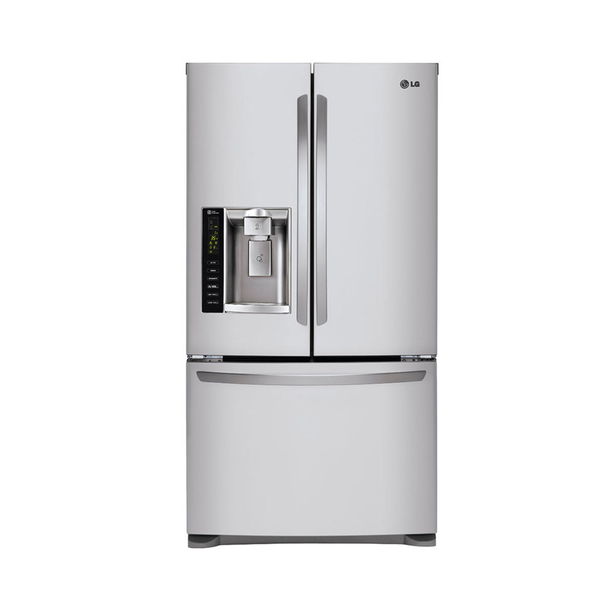 Lg 24 7 Cu Ft French Door Refrigerator Stainless Steel