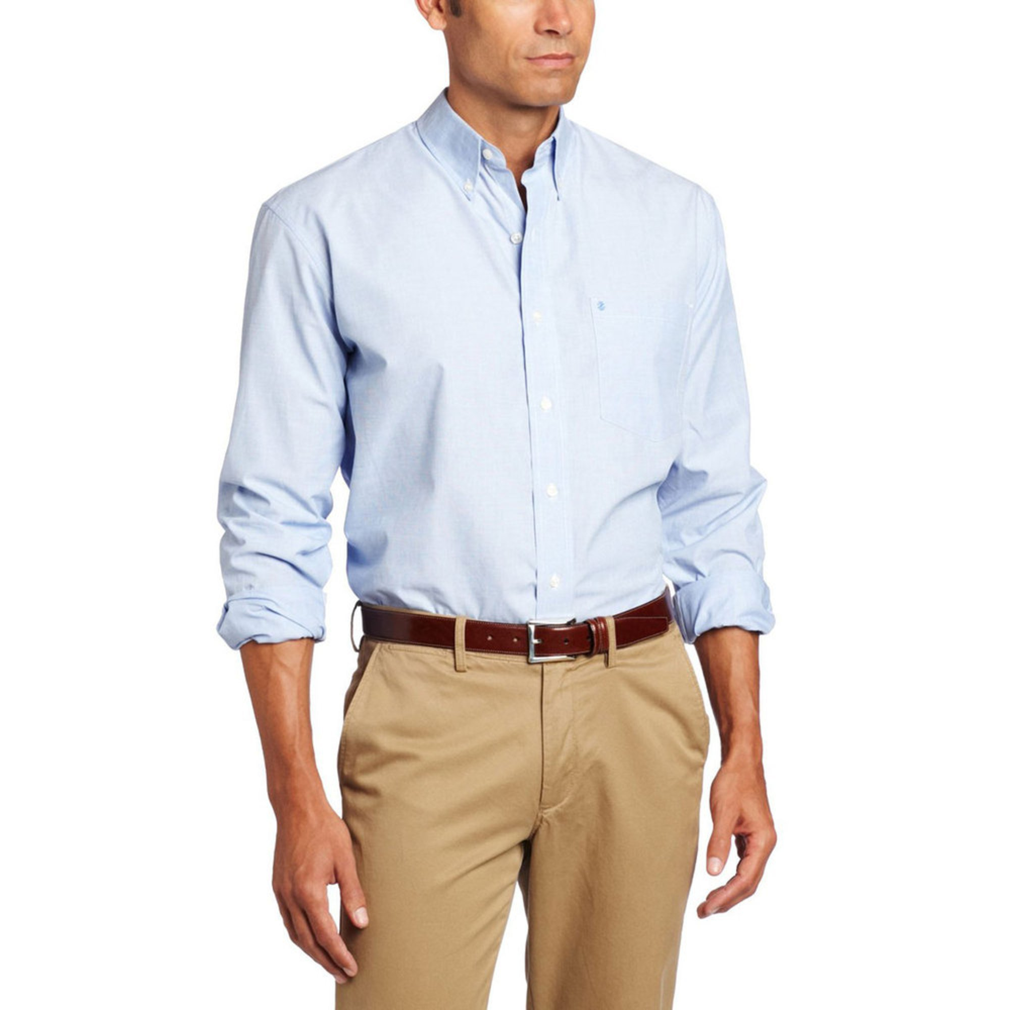 Izod men 39 s solid essential button down woven sport shirt for Izod button down shirts