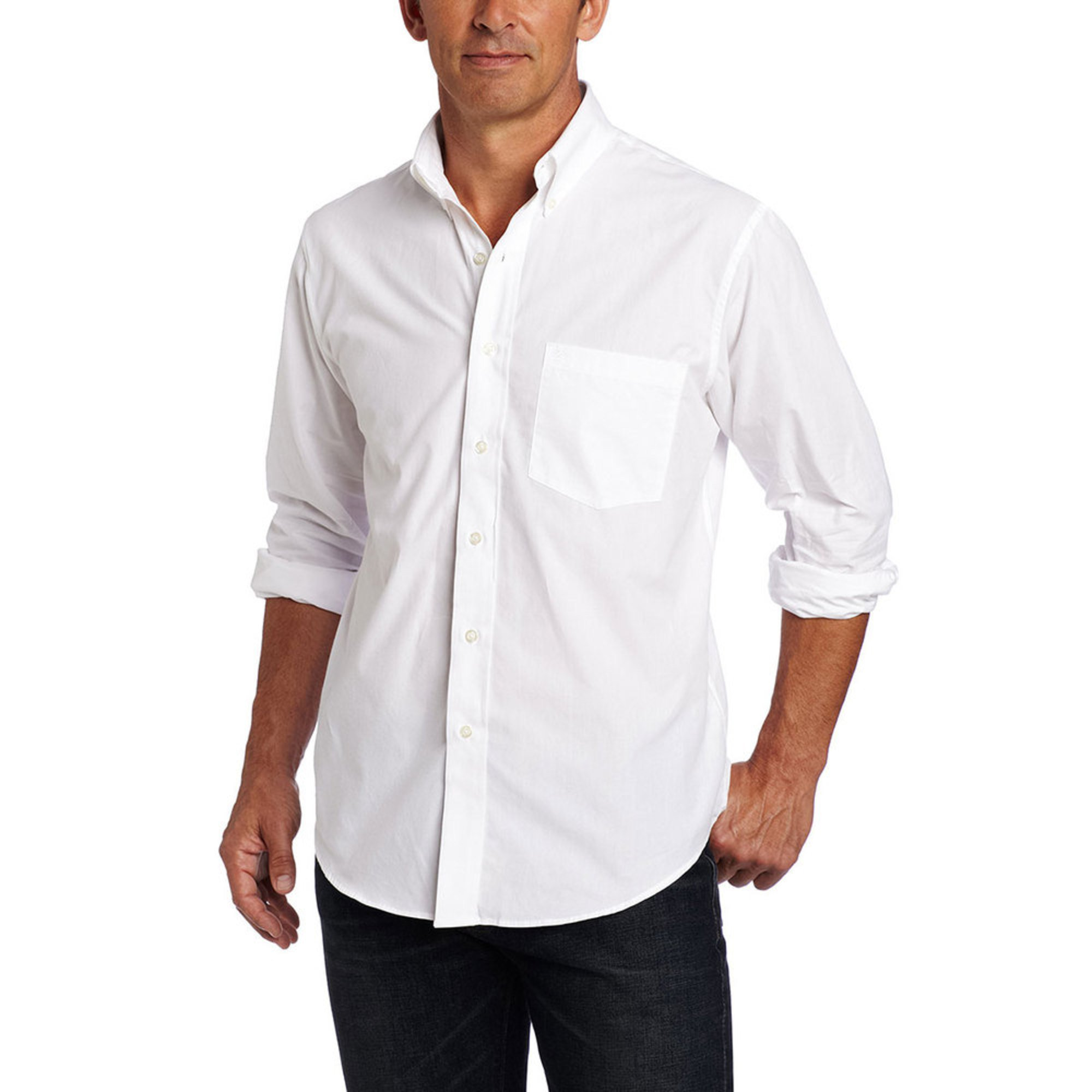 Izod men 39 s solid essential button down woven sport shirt for Izod big and tall essential solid shirt