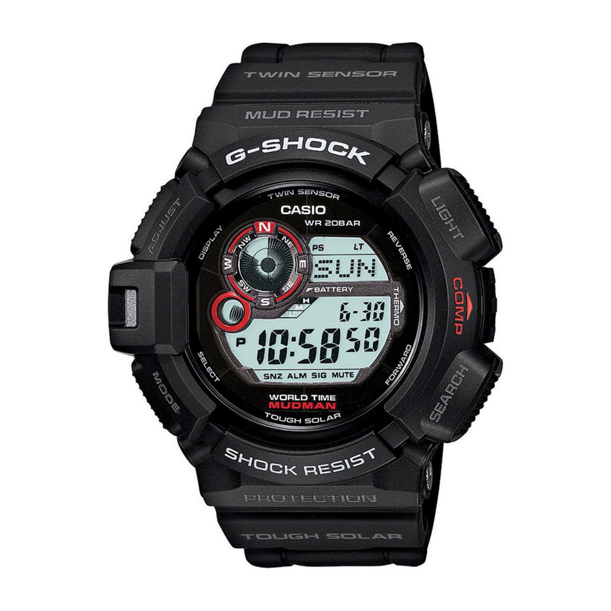 Casio Men S G Shock Mudman Compass Digital Watch 53mm
