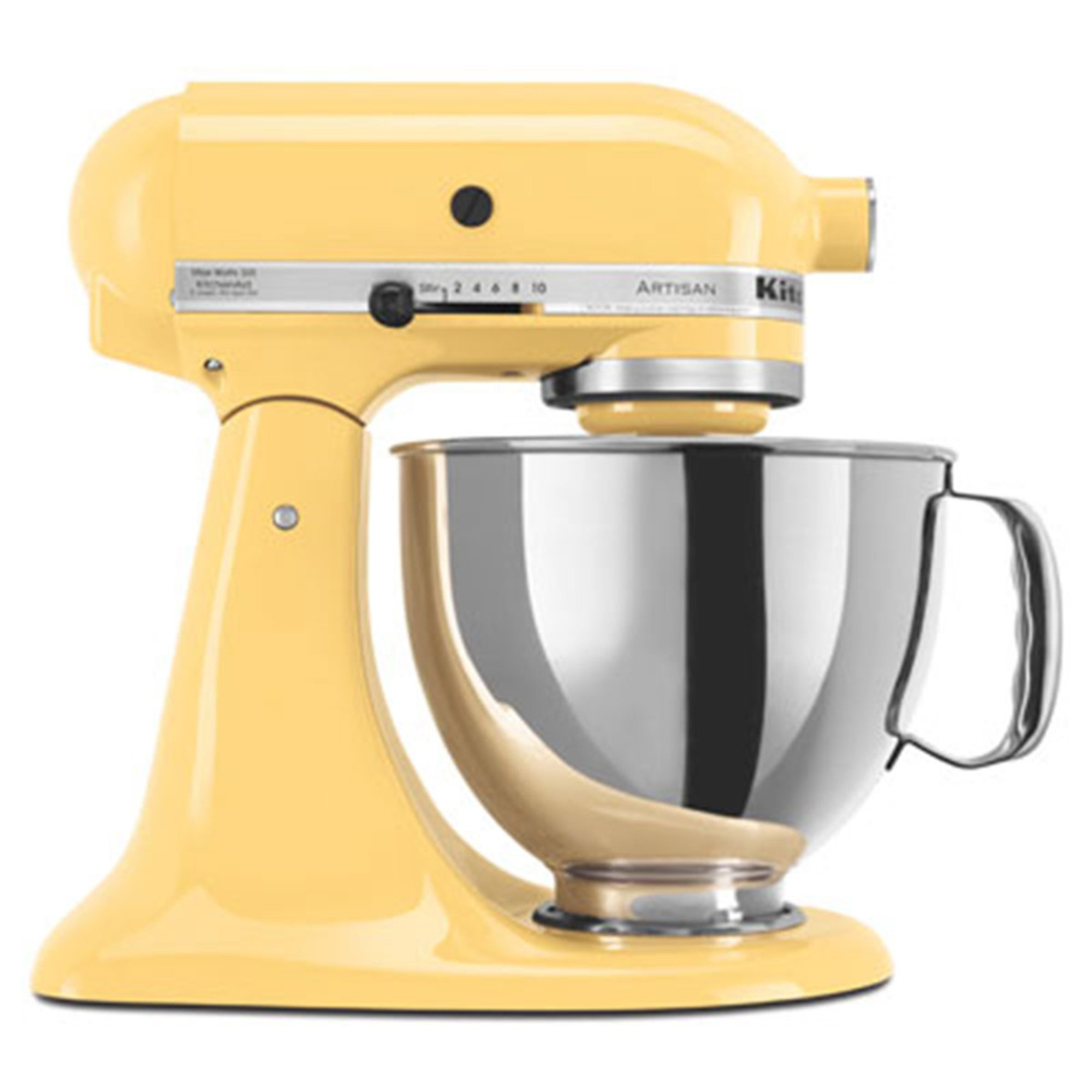 kitchenaid artisan series 5 quart tilt head stand mixer majestic yellow ksm150psmy stand. Black Bedroom Furniture Sets. Home Design Ideas