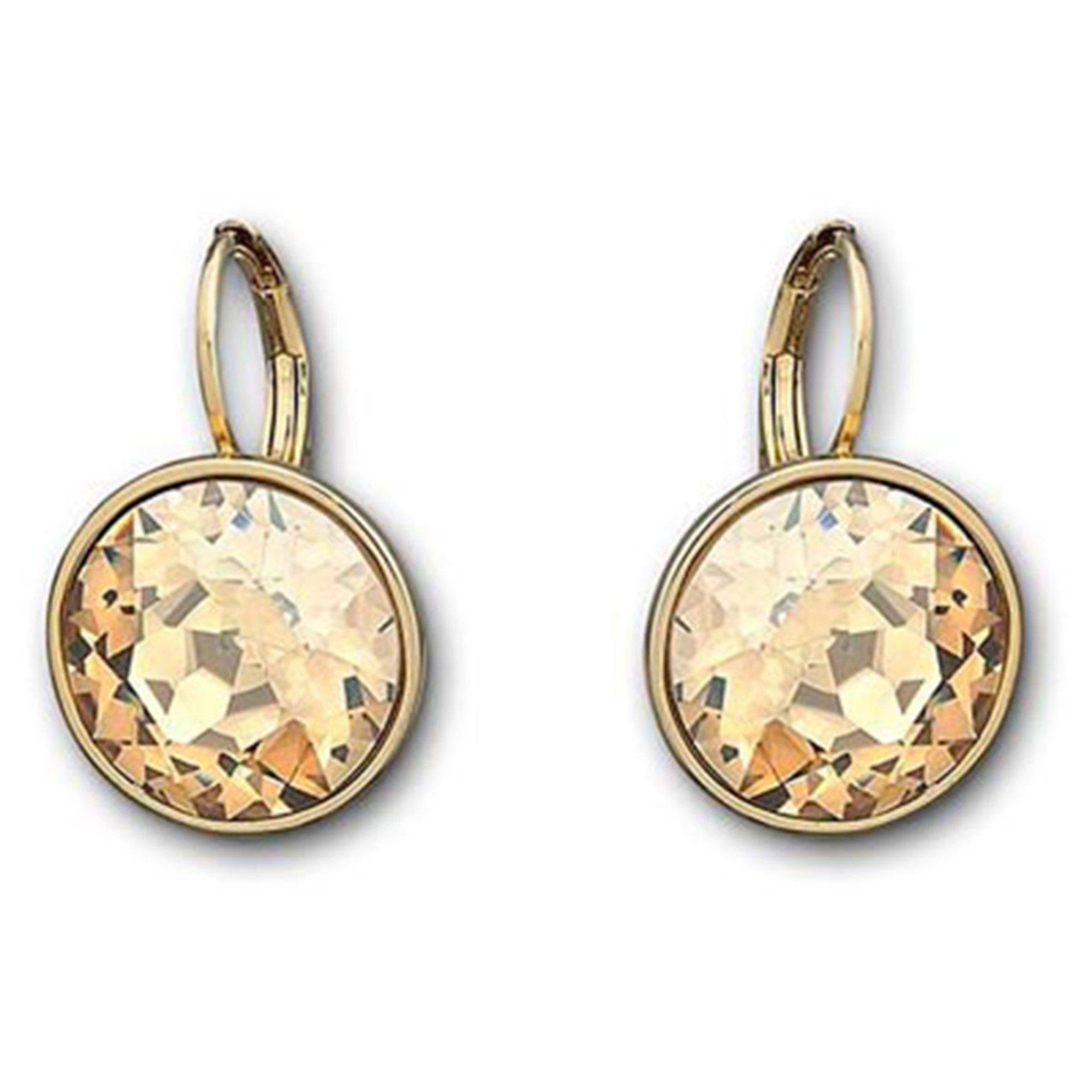 swarovski earrings golden shadow fashion