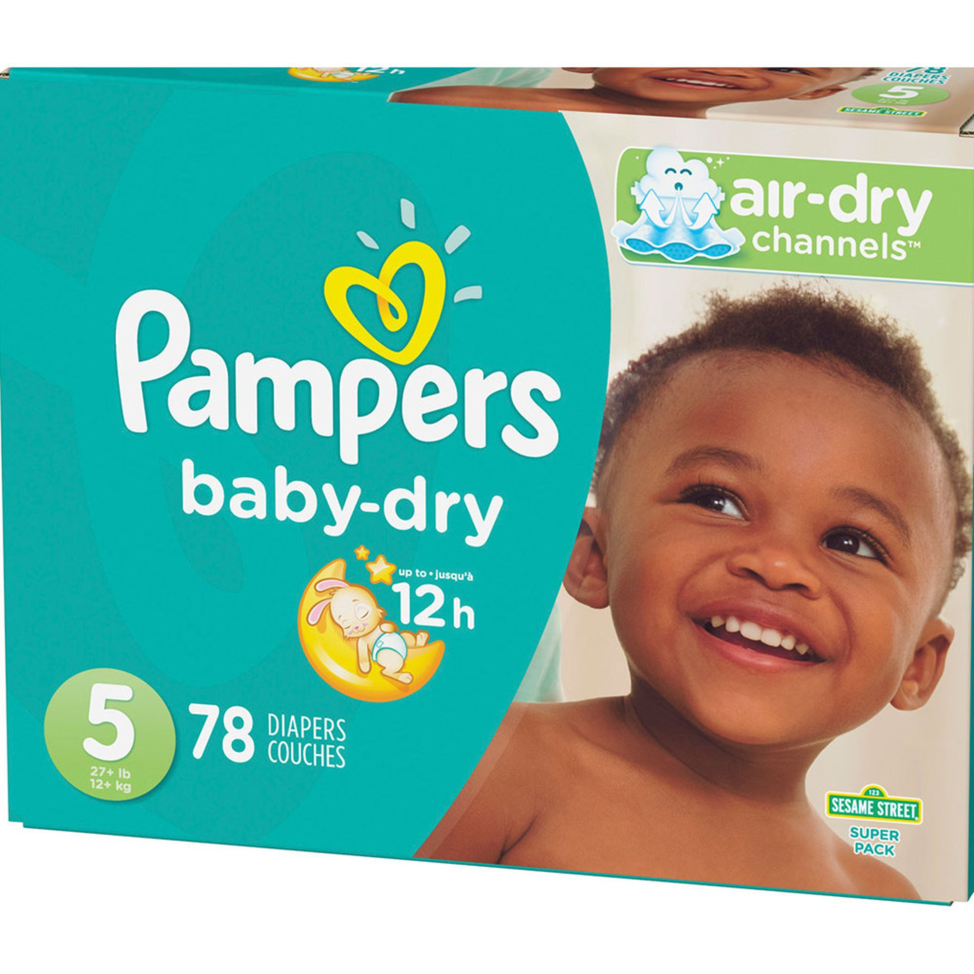 Pampers Baby Dry Size 5 Super Pack 78 Count