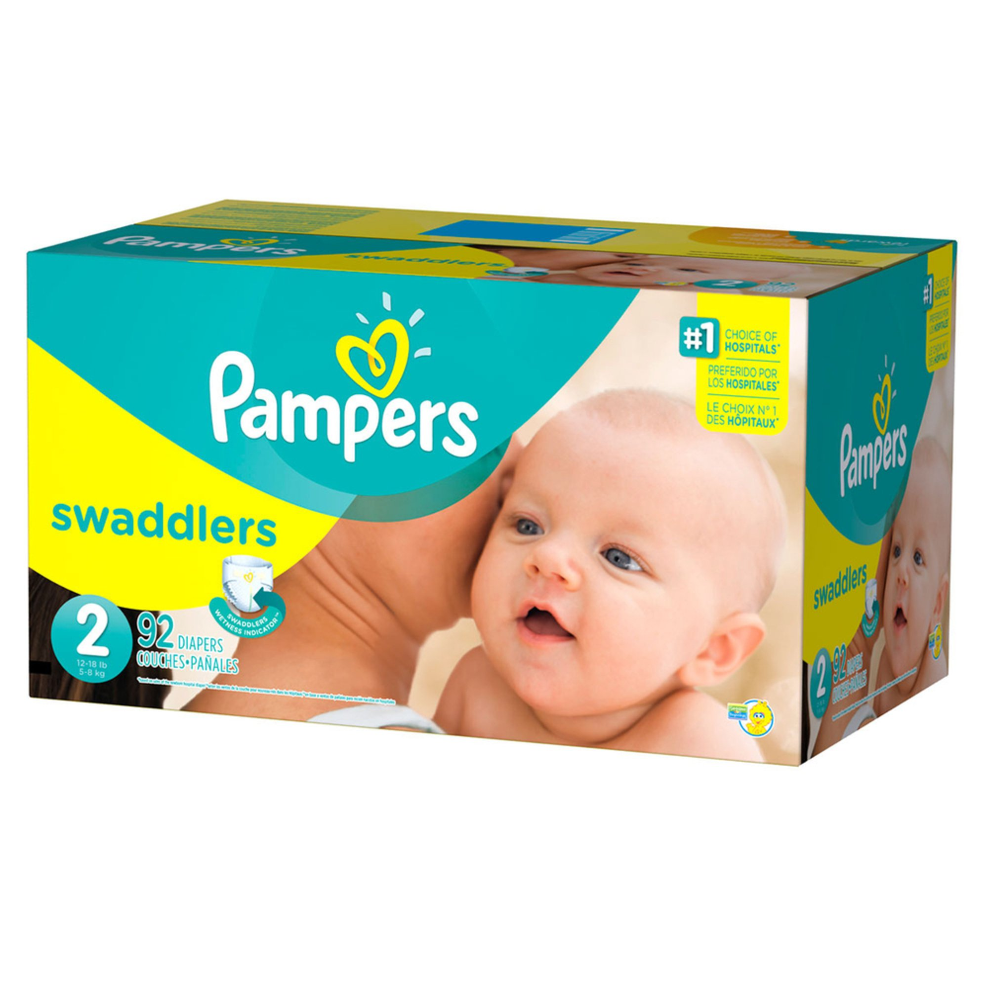 fc8b40dab3c6 Pampers Swaddlers - Size 2, Super Pack 84-Count