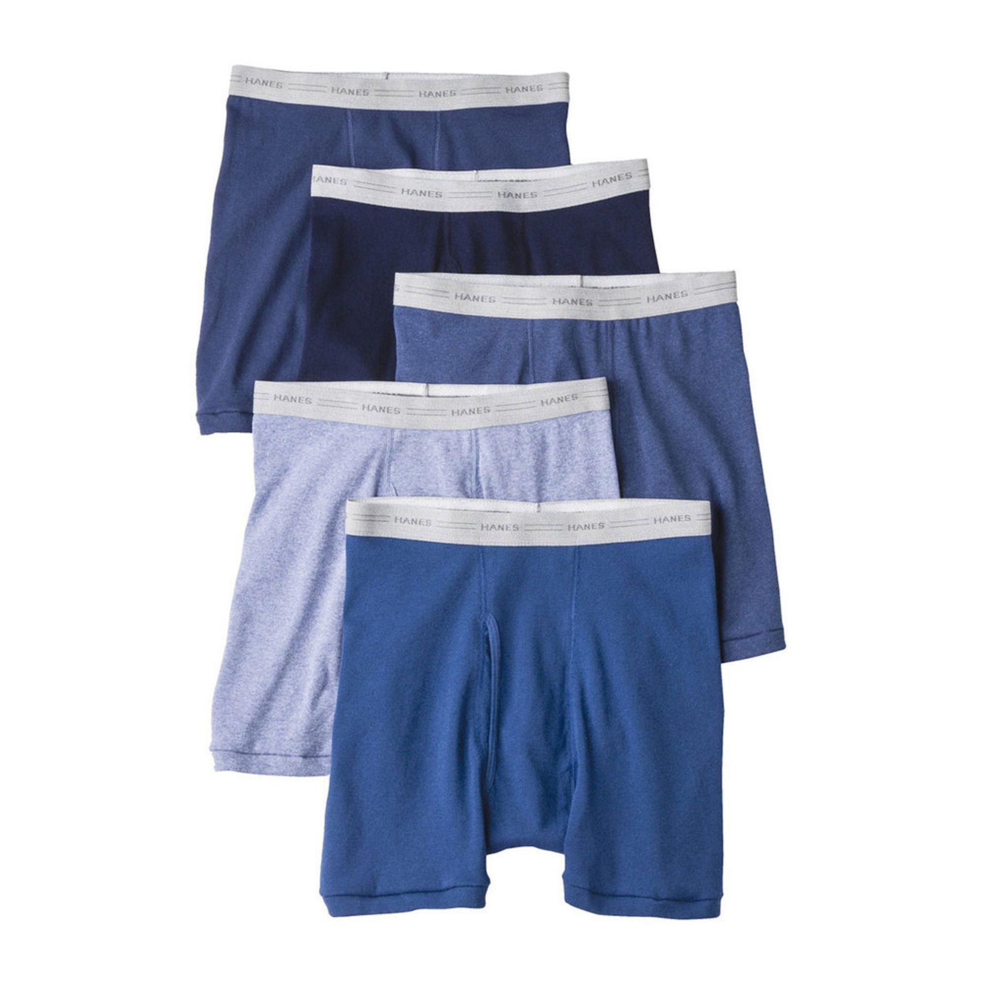9e31525993ca Hanes Men's 5-pack Dyed Boxer Briefs | Men's Underwear | Apparel - Shop  Your Navy Exchange - Official Site