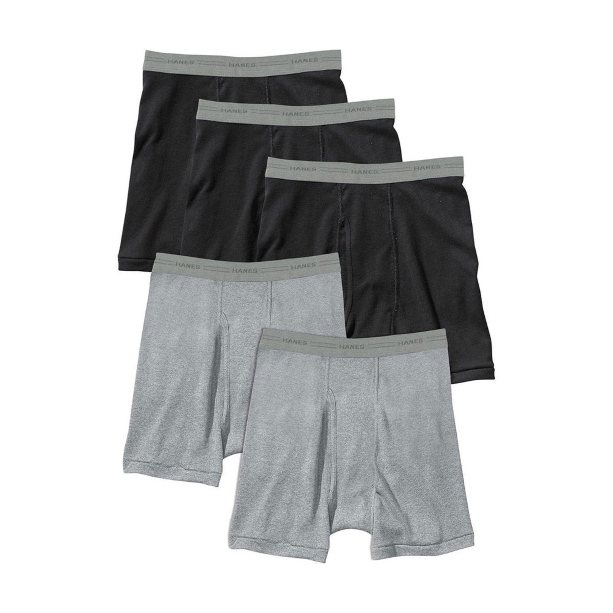 7e2804fa5eca Hanes Men's 5-pack Boxer Briefs | Men's Underwear | Apparel - Shop Your  Navy Exchange - Official Site