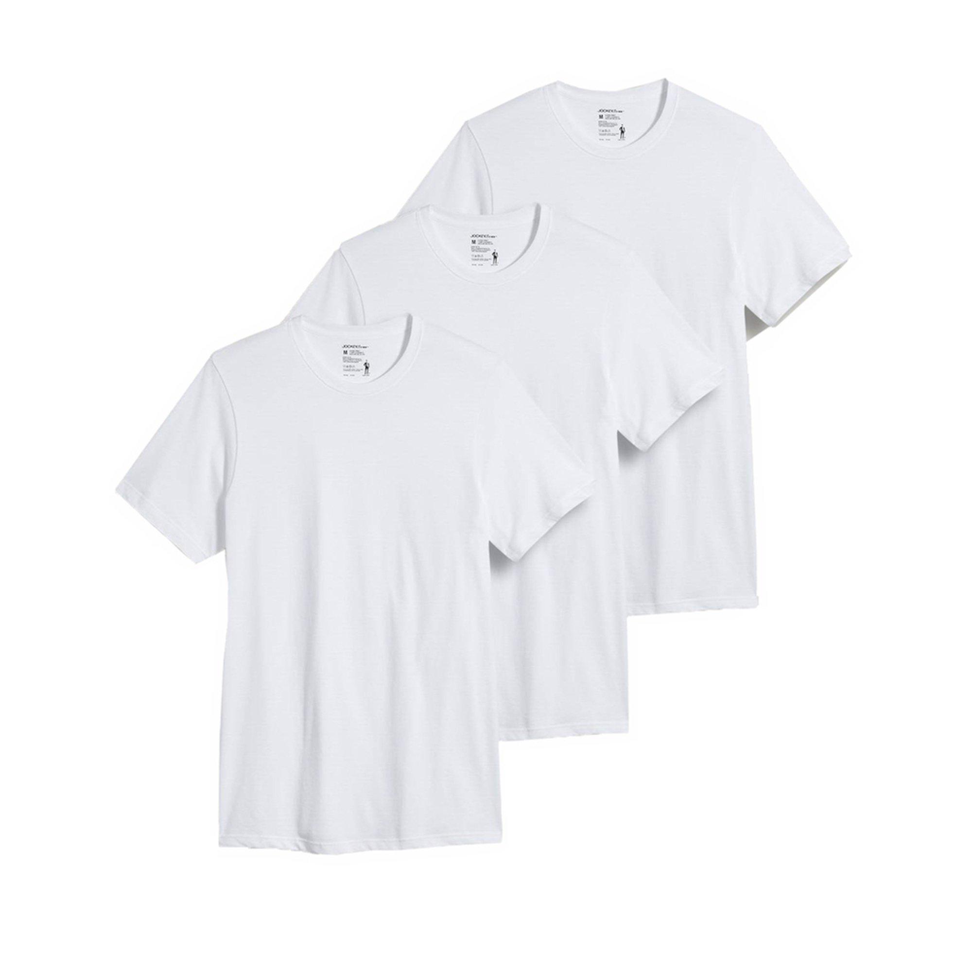 e74b7c59 Jockey Men's Crew Neck T-shirt 3-pack - White | Men's Underwear ...