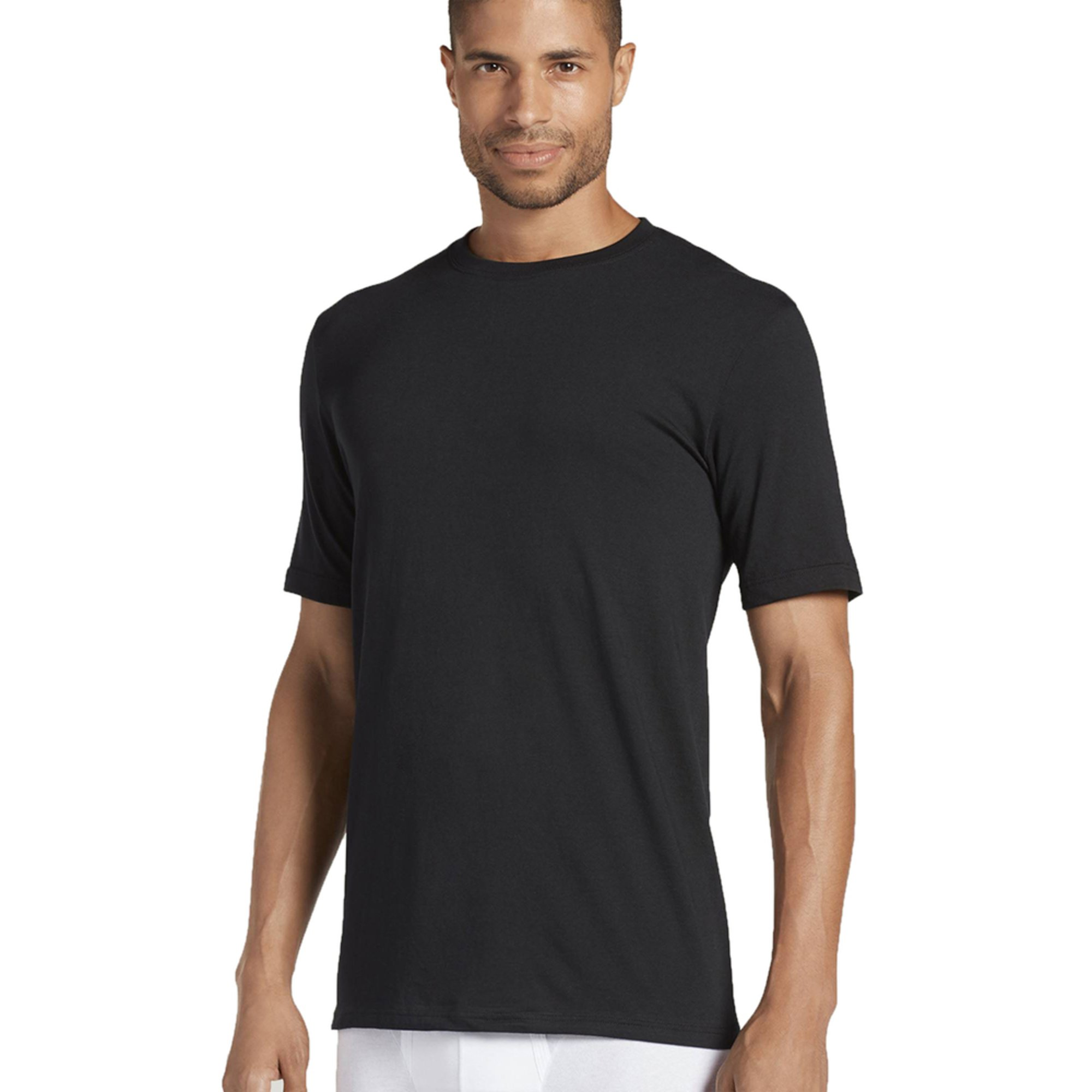 2f0fb1cb Jockey Men's Crew Neck T-shirt 3-pack - Black | Men's Underwear ...