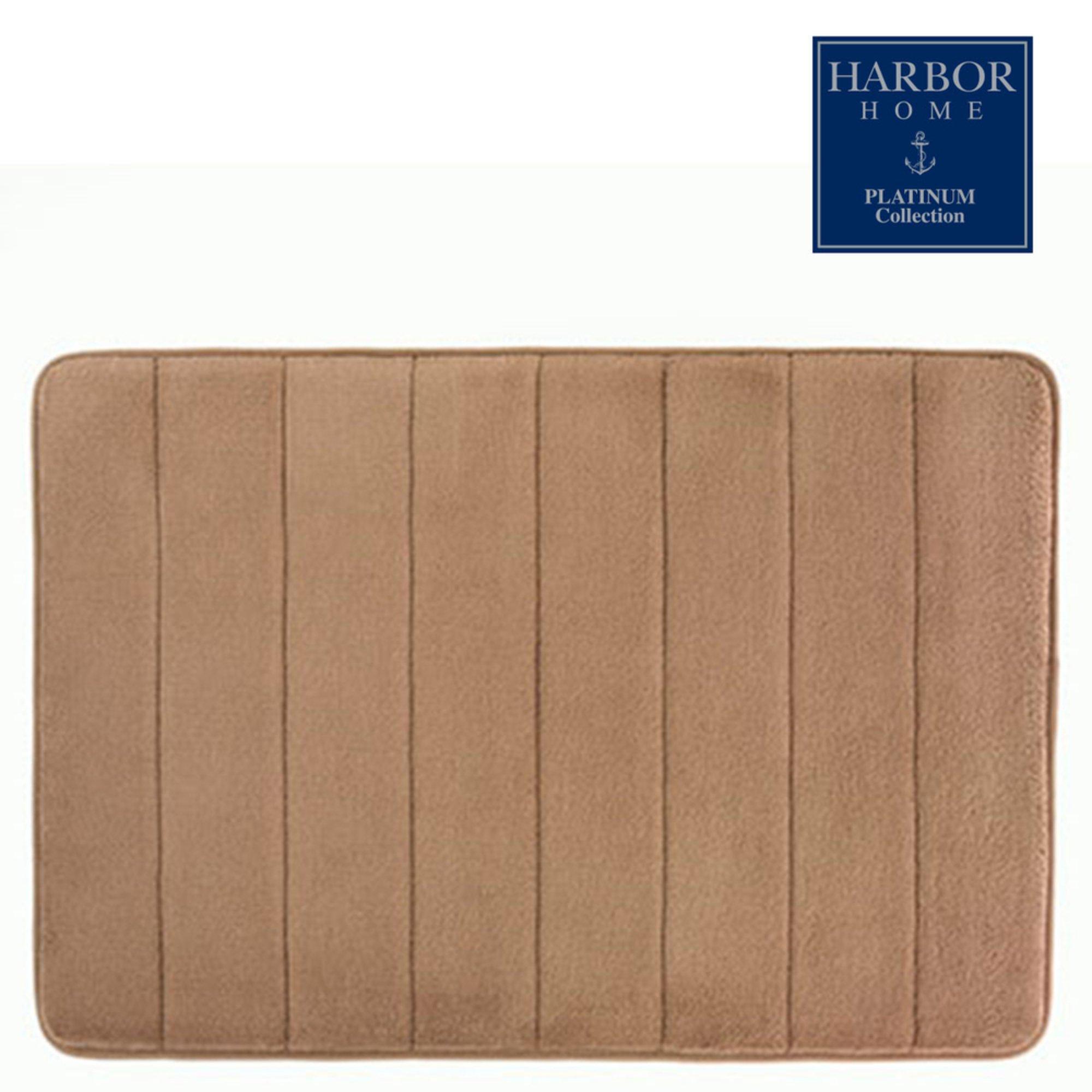 Brown and tan bath rugs rug designs - Designer bathroom rugs and mats ...