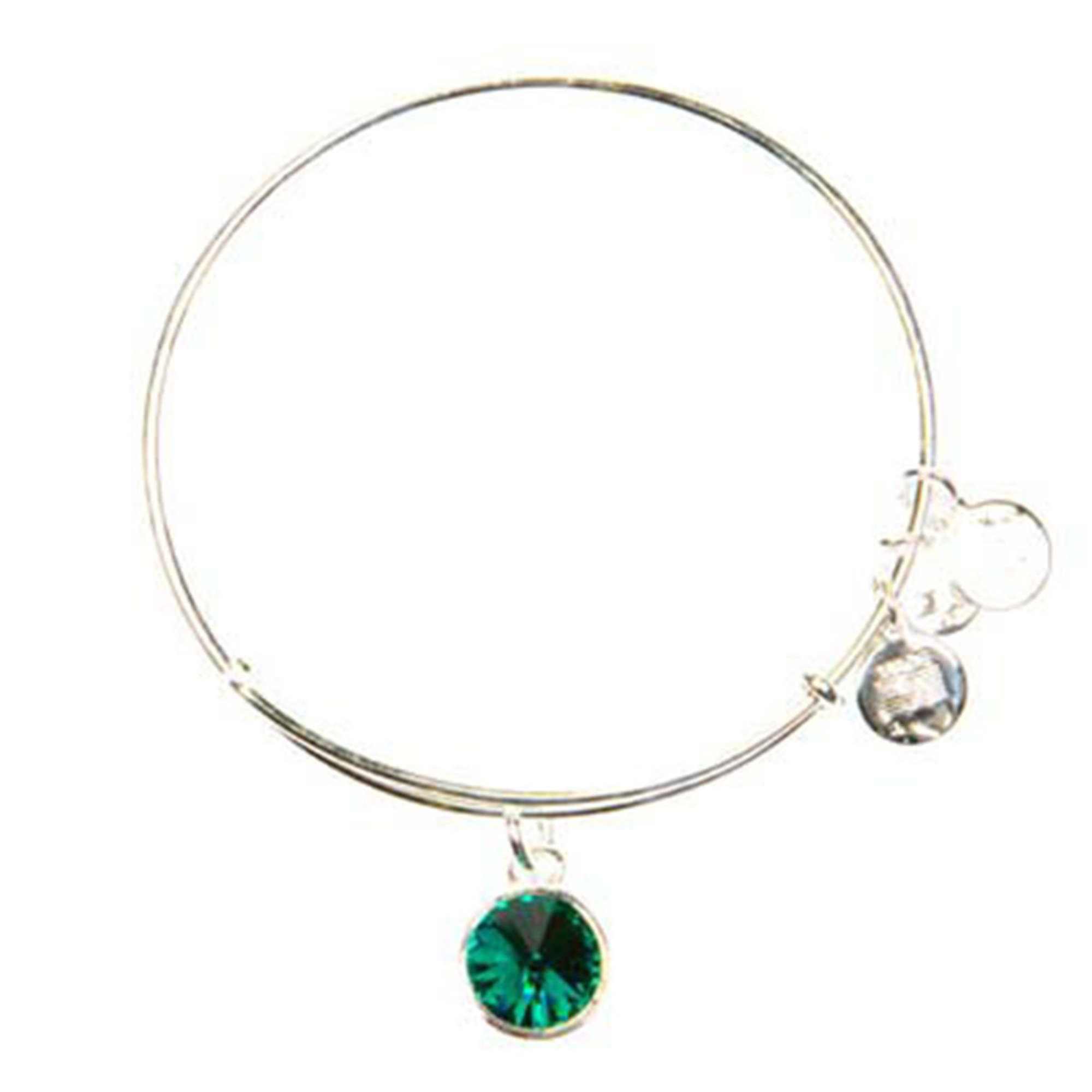 Alex And Ani May Emerald Bangle Fashion Bracelets