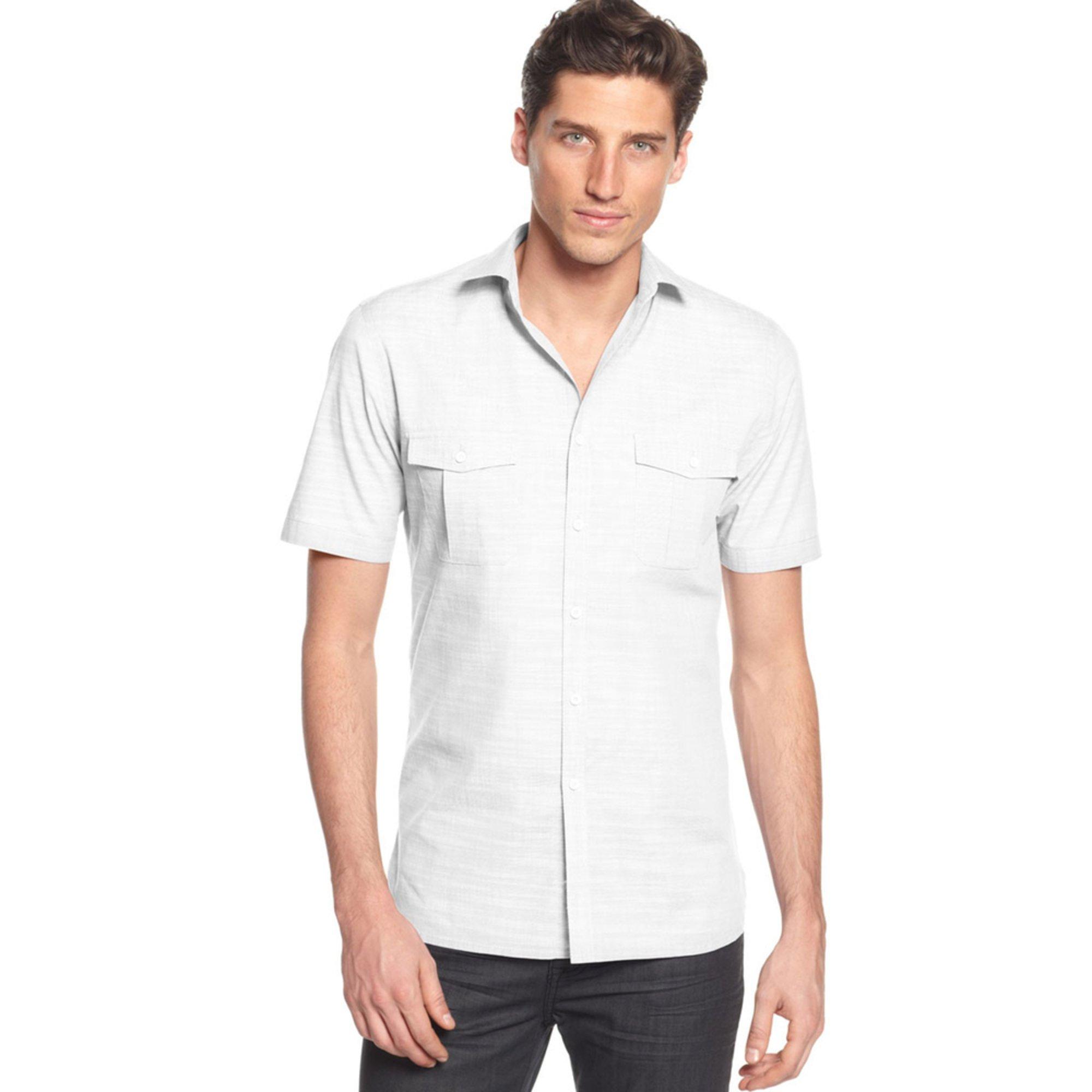alfani s warren solid sport shirt s clothing