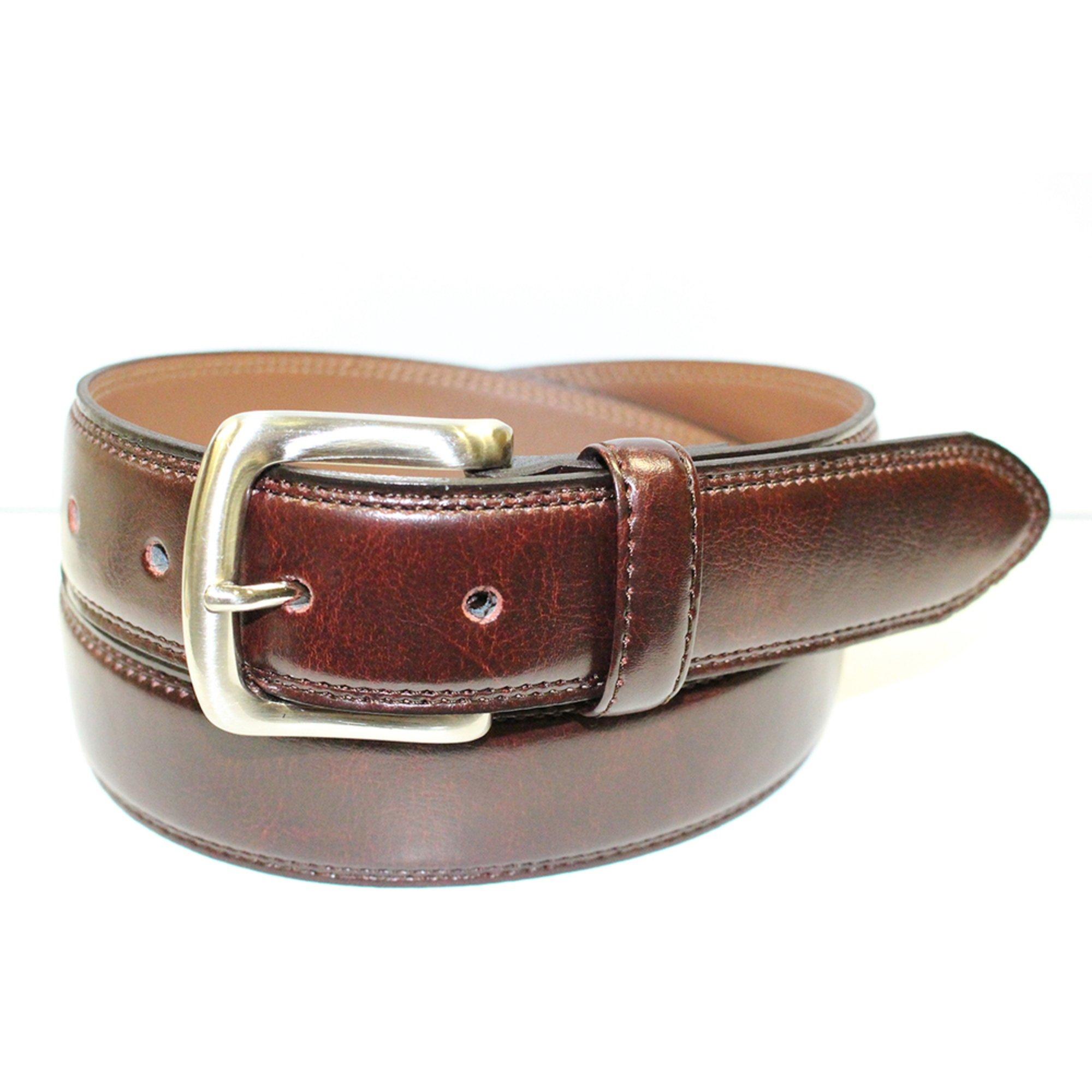 izod dress striped belt burgundy s wallets belts