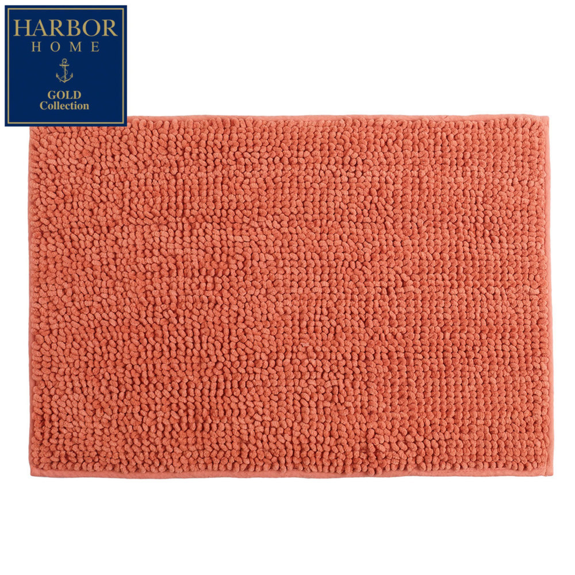 harbor home gold collection 17x24 bath rug coral bath rugs mats for the home shop your. Black Bedroom Furniture Sets. Home Design Ideas